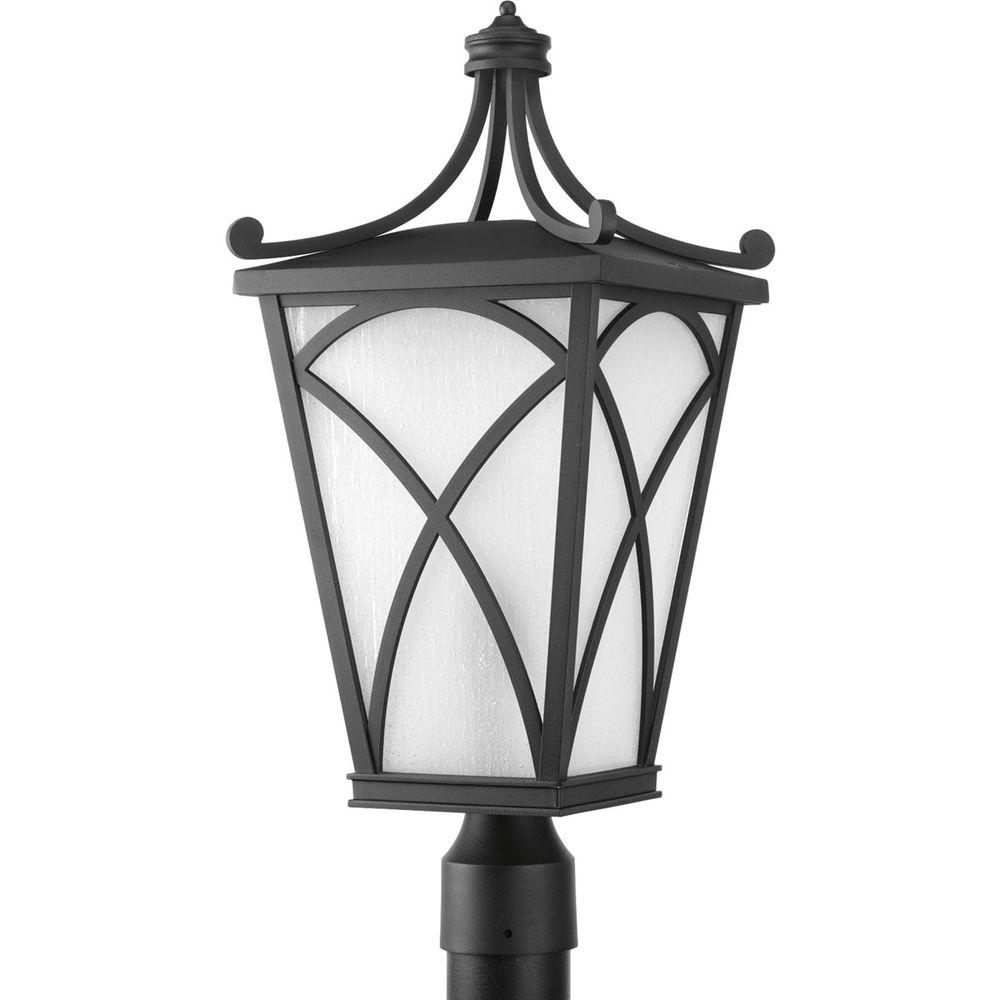 Outdoor Post Lanterns Intended For Fashionable Progress Lighting Cadence Collection 1 Light Black Outdoor Post (View 10 of 20)