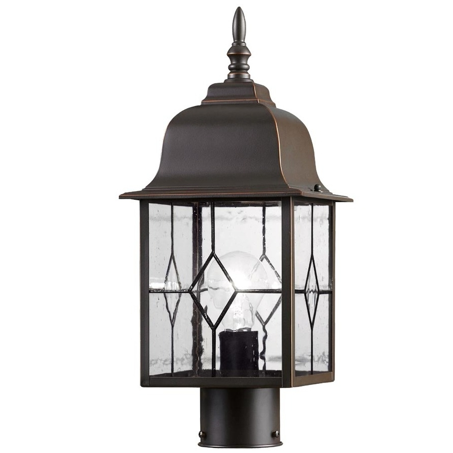 Outdoor Post Lanterns With Regard To Widely Used Shop Post Lighting At Lowes (View 14 of 20)