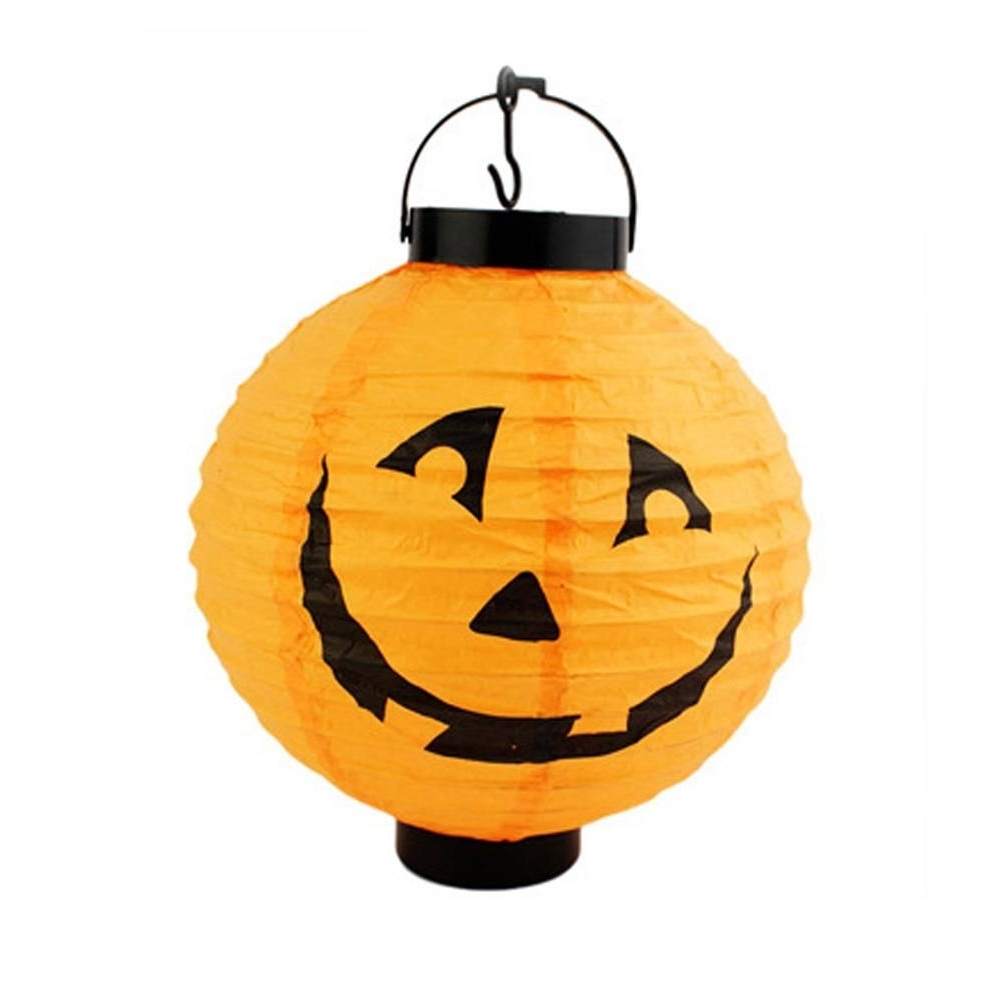 Outdoor Pumpkin Lanterns For Most Recent 2017 Pumpkin Light Halloween Decoration New Convenient Hanging Paper (View 9 of 20)