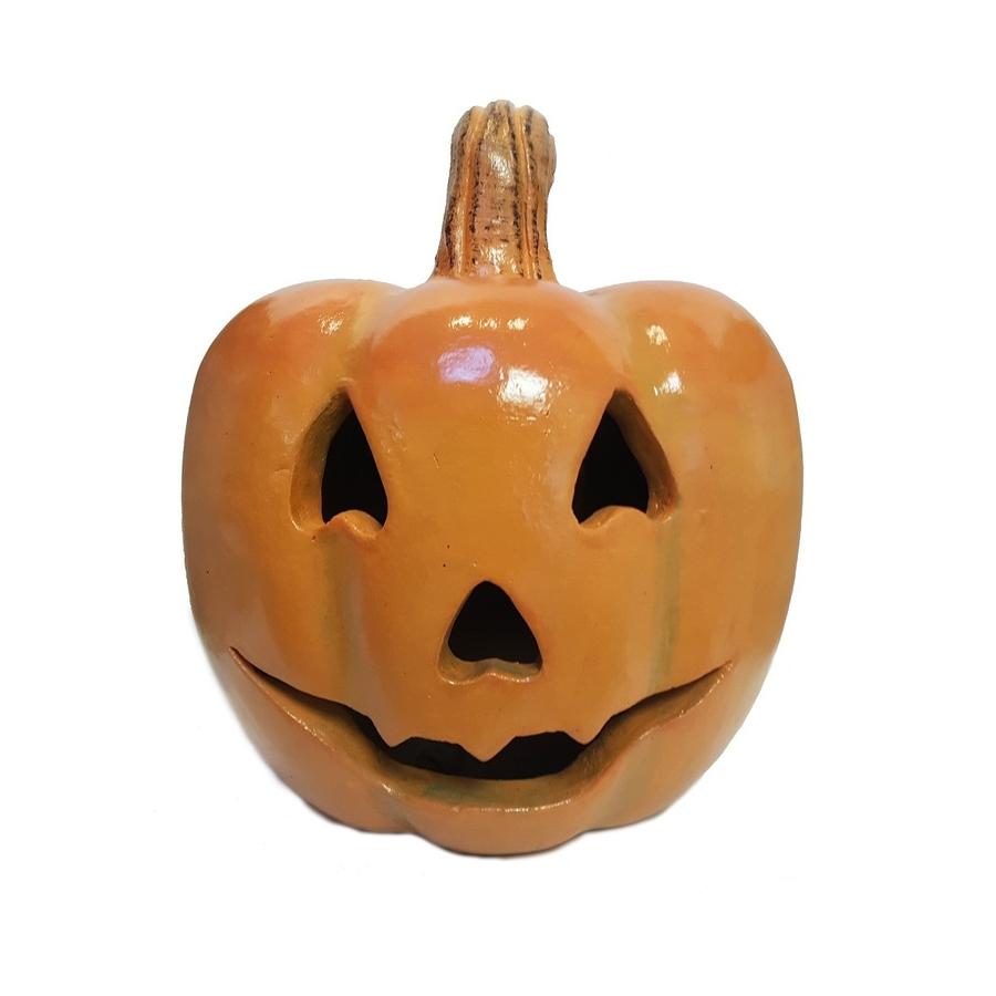Outdoor Pumpkin Lanterns Within Trendy Shop Garden Treasures Jack O Lantern At Lowes (View 7 of 20)