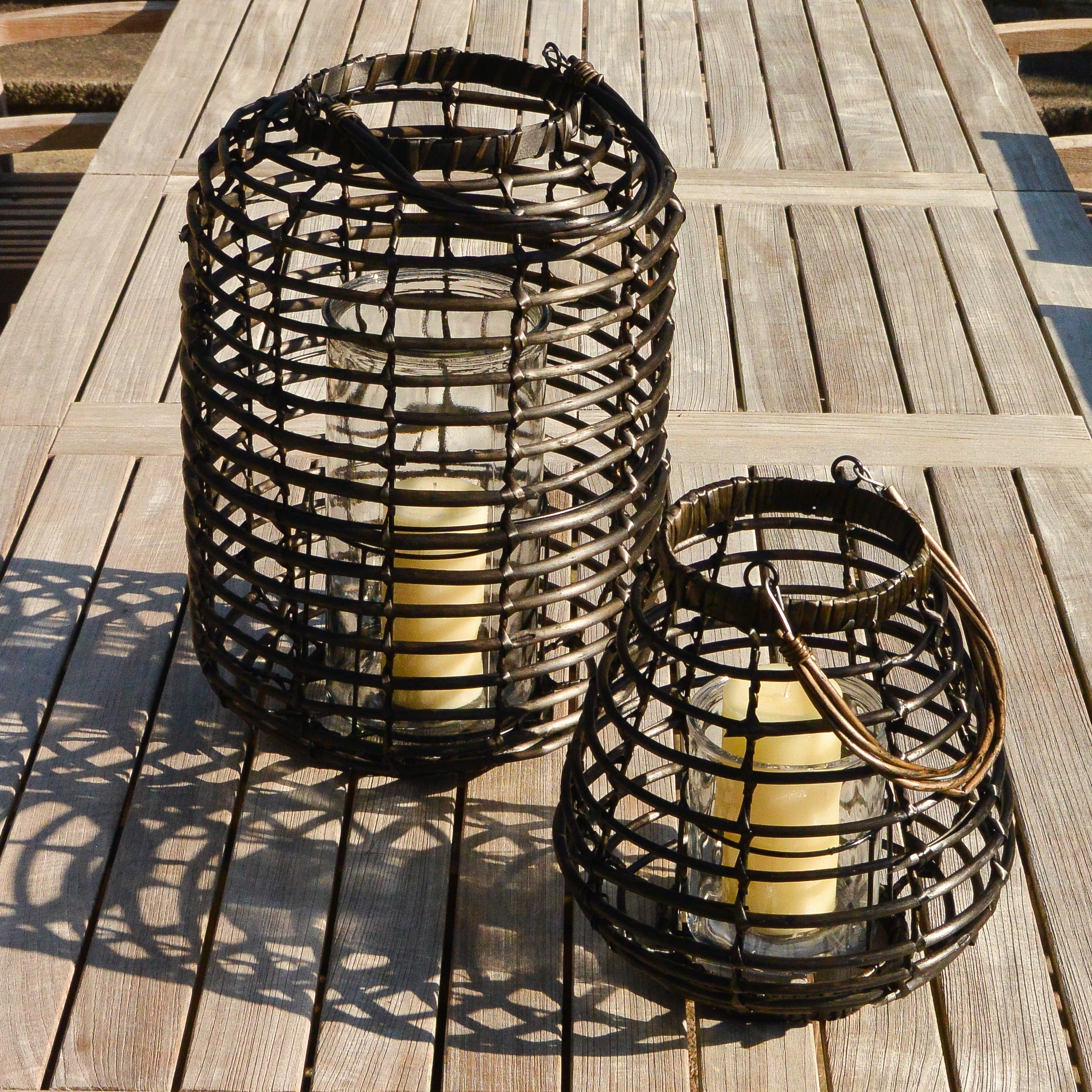 Outdoor Rattan Lanterns Inside Well Known Rattan Outdoor Lanterns Ella James (View 14 of 20)