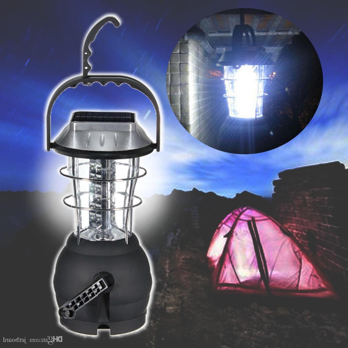 Outdoor Rechargeable Lanterns For Well Known Outdoor 36 Leds Solar Light Lantern Rechargeable Tent Lamp Hand (View 8 of 20)