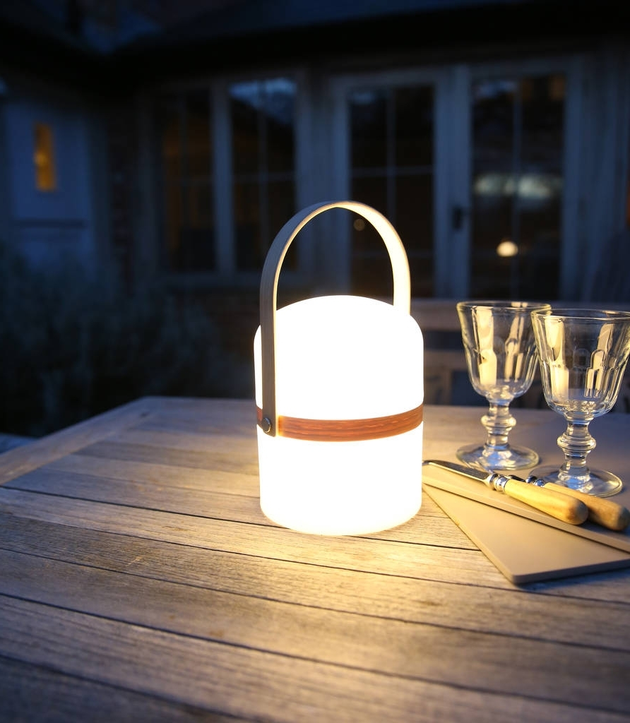 Outdoor Rechargeable Lanterns Regarding Current Salcombe Rechargeable Garden Lanternred Lilly (View 3 of 20)