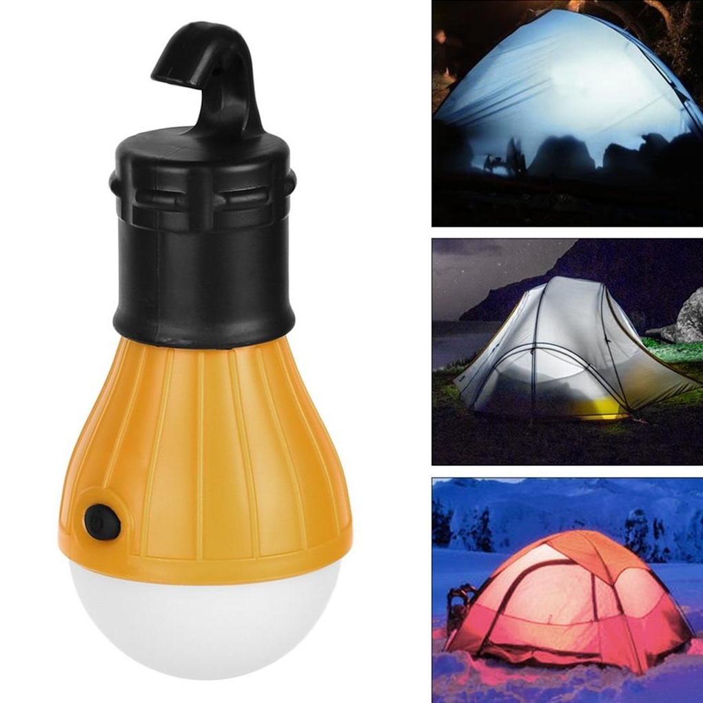 Outdoor Rechargeable Lanterns Throughout Most Up To Date High Power Soft Light Portable Hanging 3 Led Light Outdoor Camping (View 13 of 20)