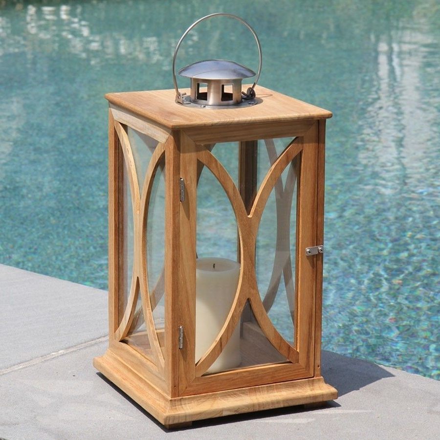 Outdoor Teak Lanterns In Most Up To Date Add Style And Ambiance To Any Setting With The Fiori Large Candle (View 13 of 20)
