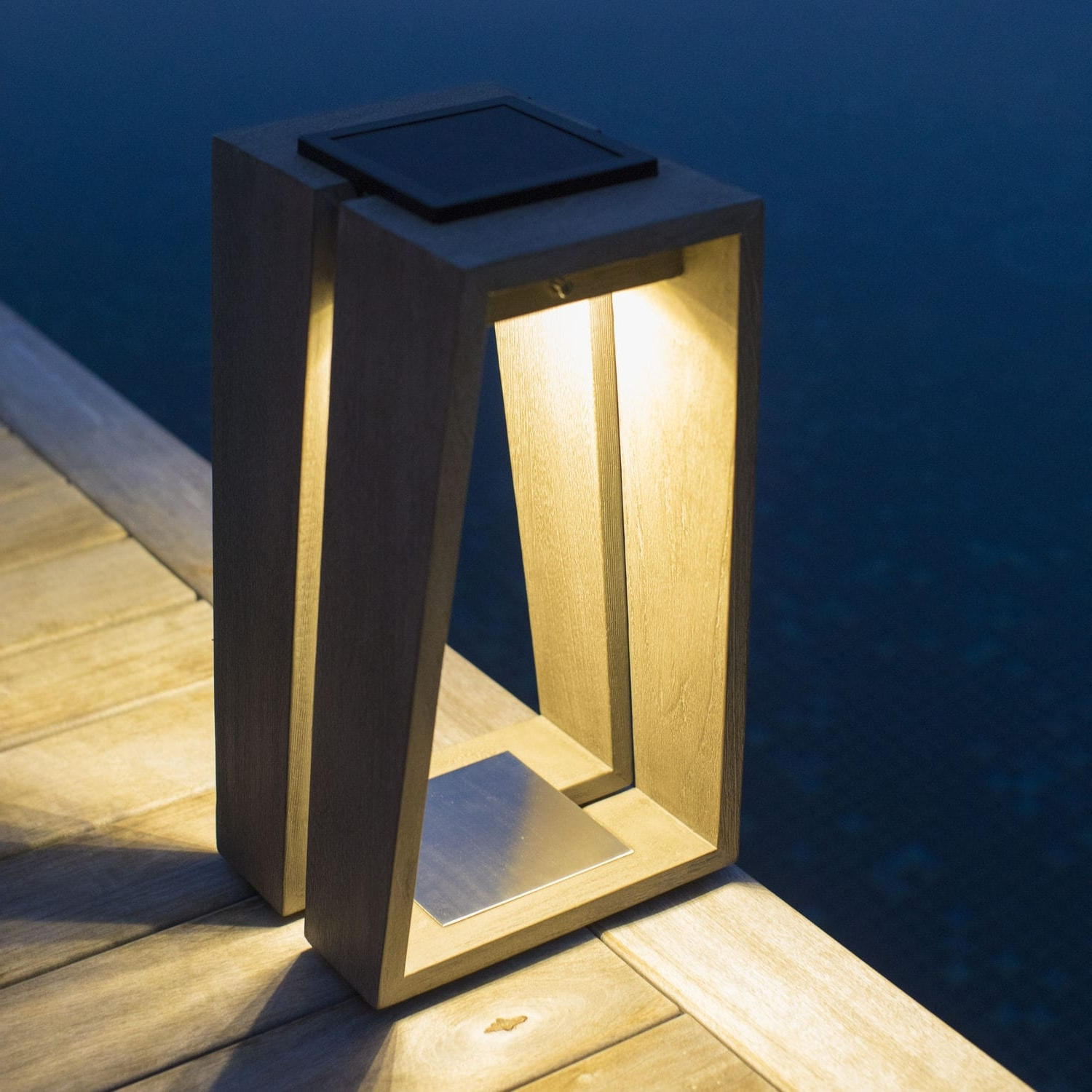 Outdoor Teak Lanterns In Newest Portable Lamp / Contemporary / Teak / Lantern – Skaal – Les Jardins (View 16 of 20)