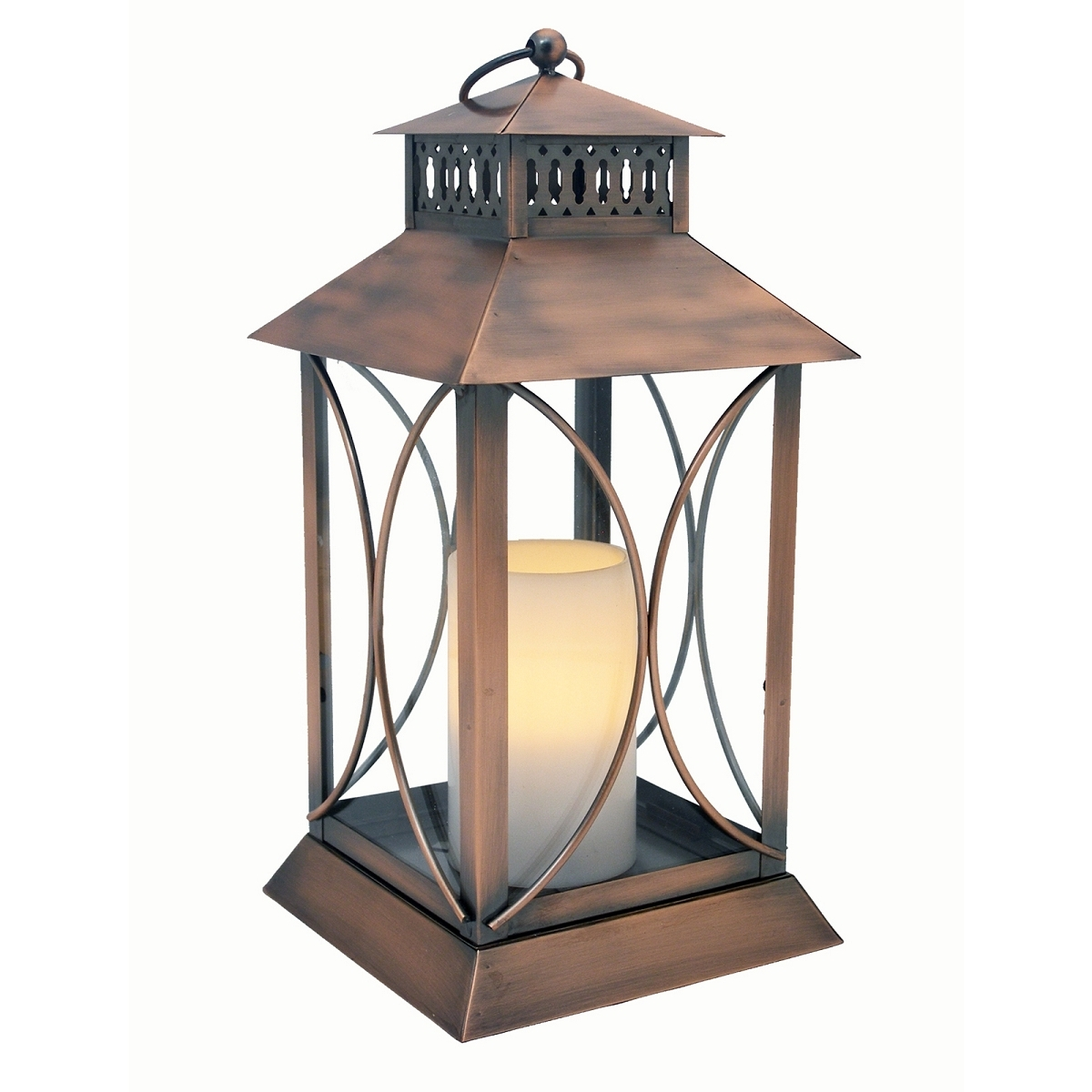 Outdoor Timer Lanterns Intended For Well Liked Neuporte Flameless Candle Lantern With Timer Indoor Outdoor (View 4 of 20)