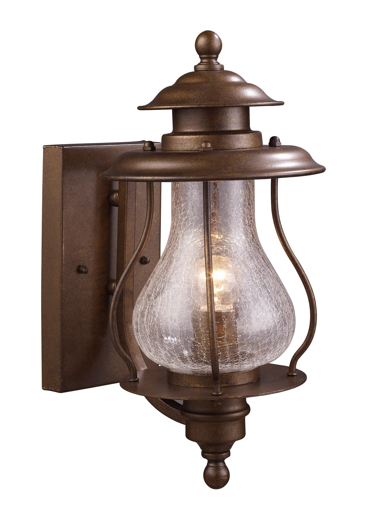 Outdoor Tropical Lanterns For Most Current Elk Lighting 62005 1 Wikshire Outdoor Wall Mount Lantern (View 11 of 20)