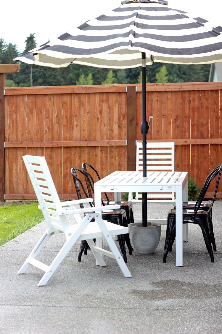 Outdoor Umbrella Stand Side Table • Side Tables Design With Regard To Fashionable Patio Umbrella Stand Side Tables (View 12 of 20)