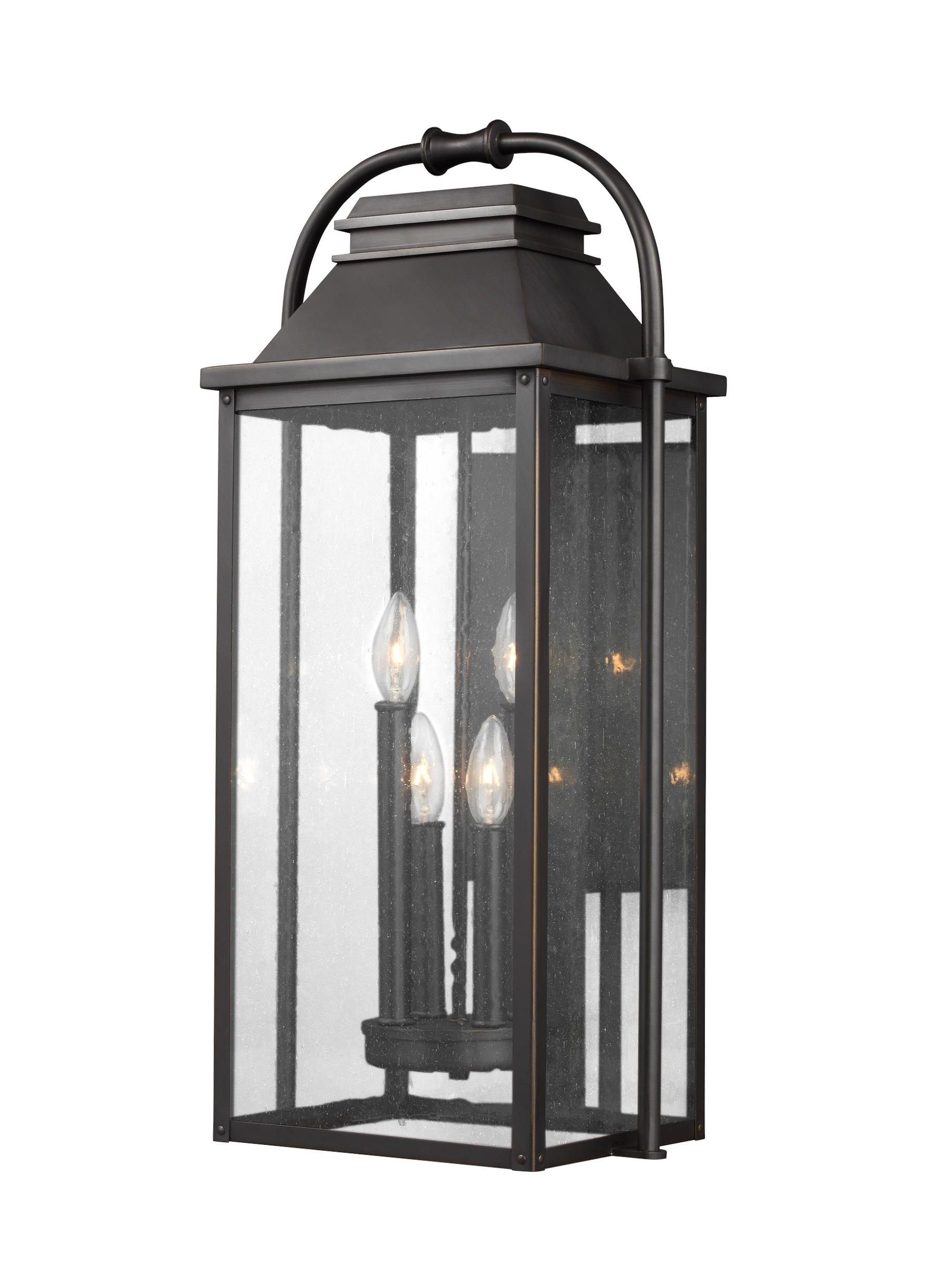 Outdoor Wall Lanterns In Most Current Ol13202Anbz,4 – Light Outdoor Wall Lantern,antique Bronze (Gallery 16 of 20)