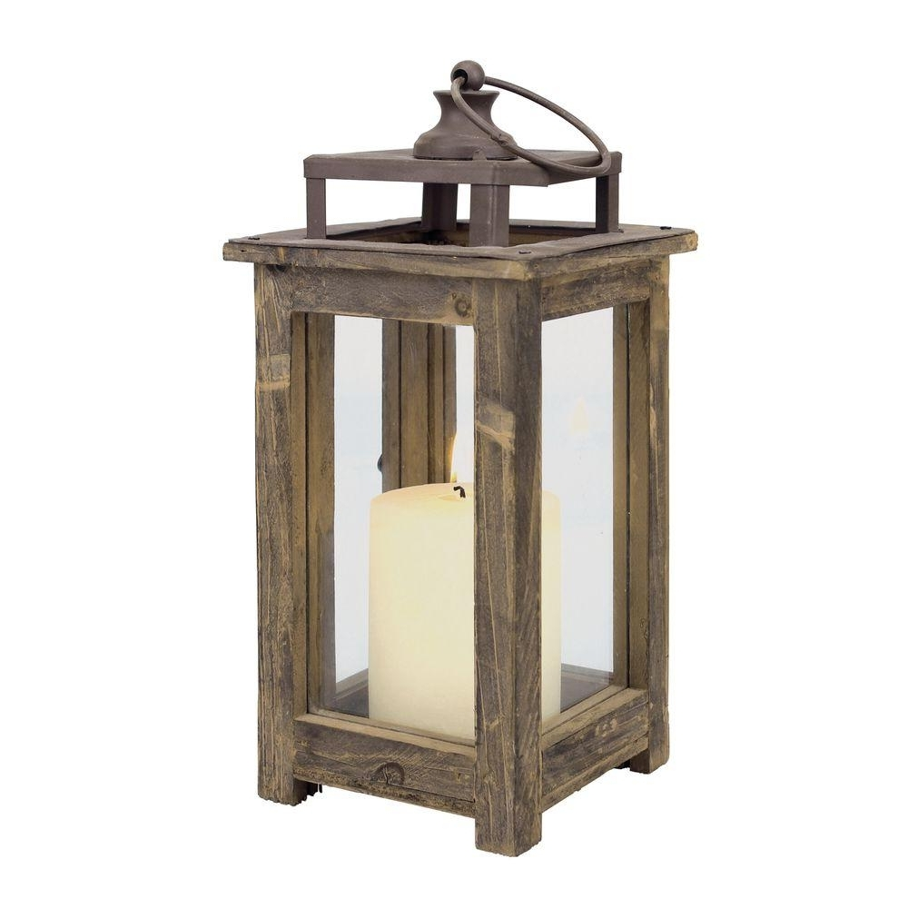Outdoor Wood Lanterns Inside Most Recent Stonebriar Collection 12 In (View 1 of 20)