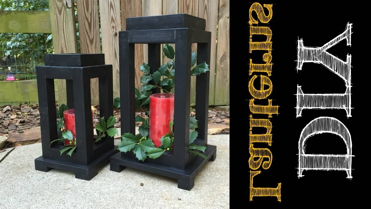 Outdoor Wood Lanterns Intended For Well Liked Diy Rustic Wooden Lanterns (Cmrw#49) – Youtube (View 15 of 20)