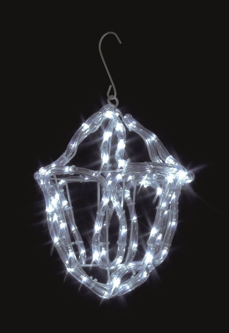 Outdoor Xmas Lanterns Intended For Best And Newest Uk Gardens Christmas Twinkling White Rope Light Lantern Indoor Or (View 10 of 20)