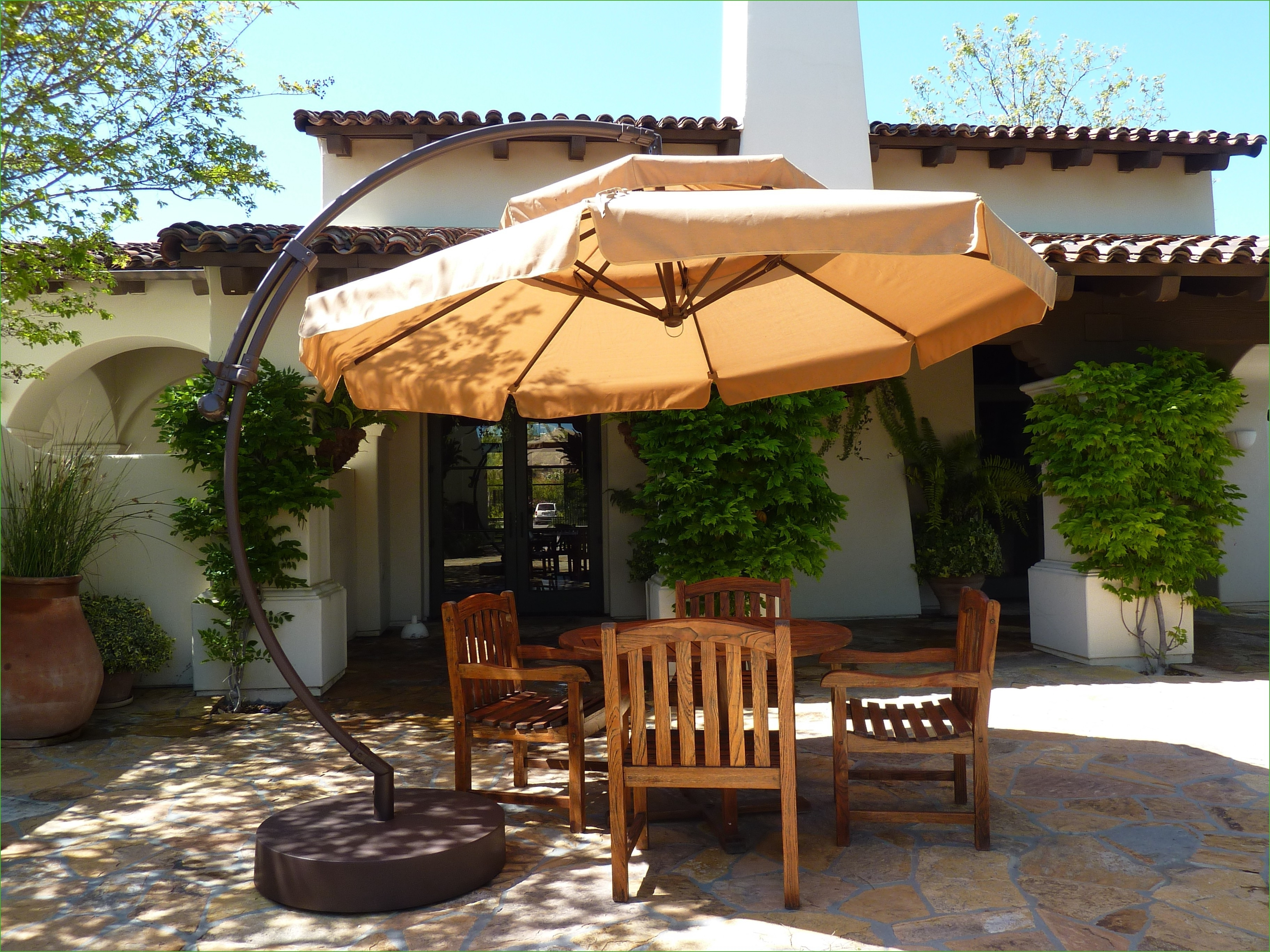 Oversized Patio Umbrellas Inside Fashionable Big Patio Umbrella Best Of Outdoor Patio Set With Umbrella Beautiful (View 8 of 20)