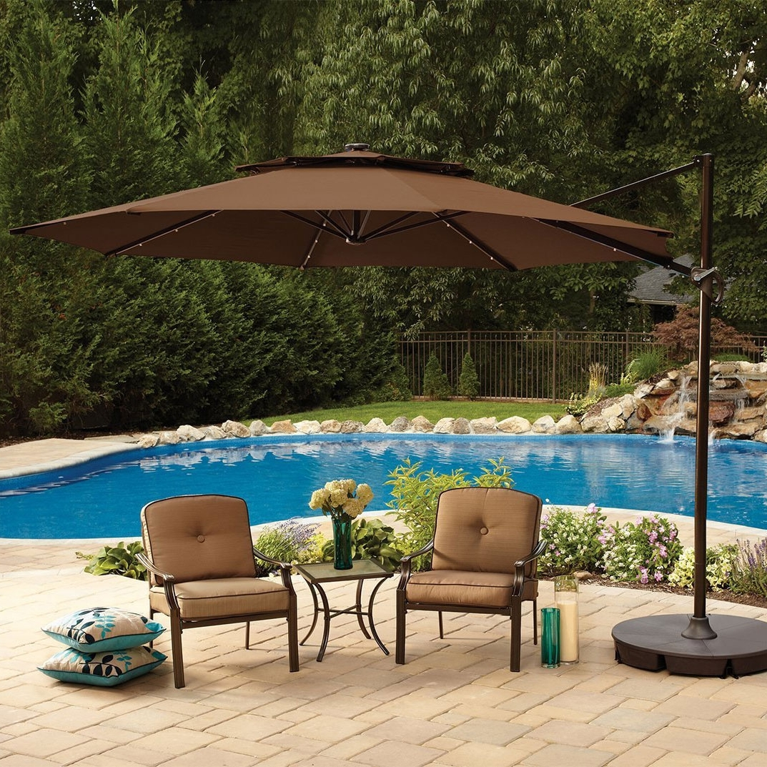 Oversized Patio Umbrellas Intended For Current Large Patio Umbrellas In Square Shape – Carehomedecor (View 9 of 20)