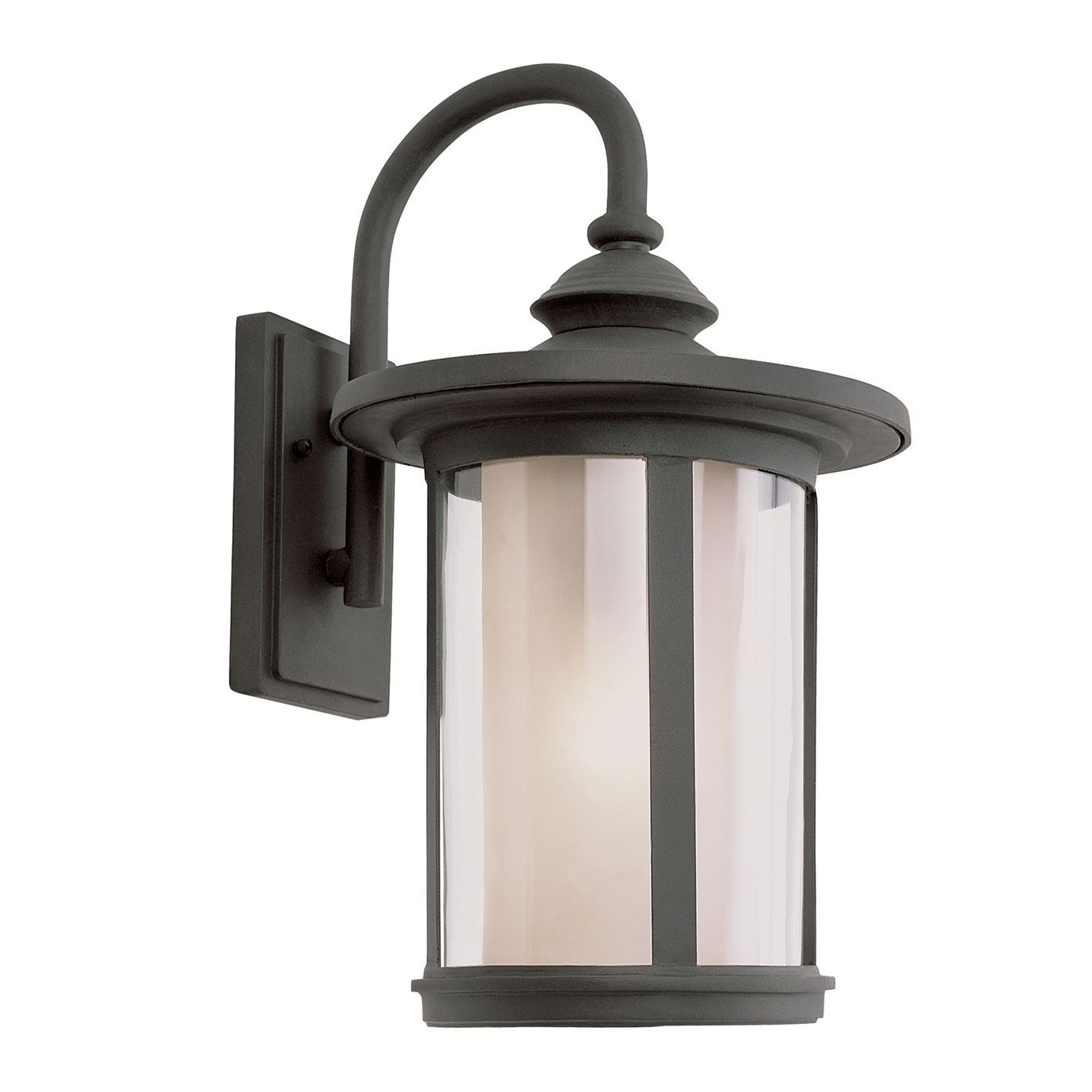 P> Chimney Stack Outdoor Wall Lantern Features Tea Stain Clear Pertaining To Fashionable Outdoor Weather Resistant Lanterns (View 14 of 20)