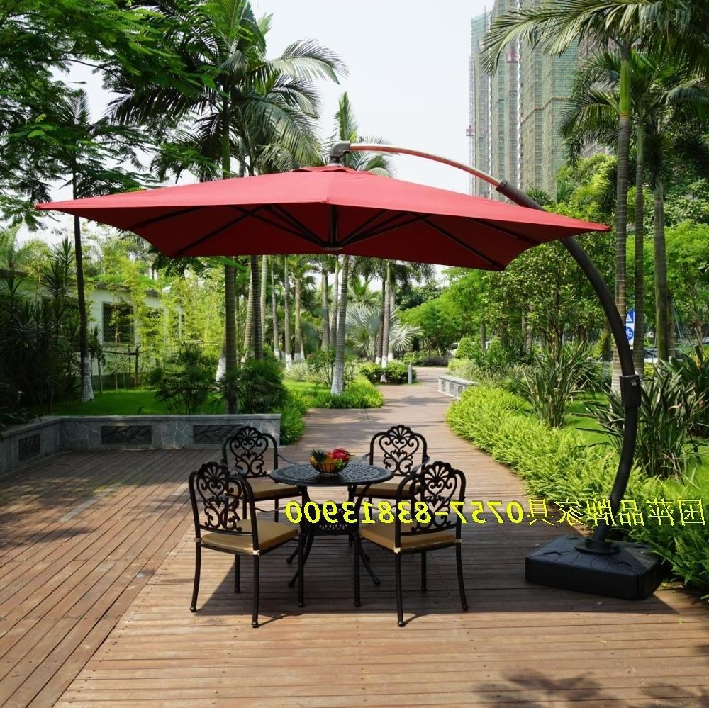 P003A Big Bend Bend Hanging Umbrella Umbrella Large Side Garden Inside Most Current Hanging Patio Umbrellas (View 9 of 20)