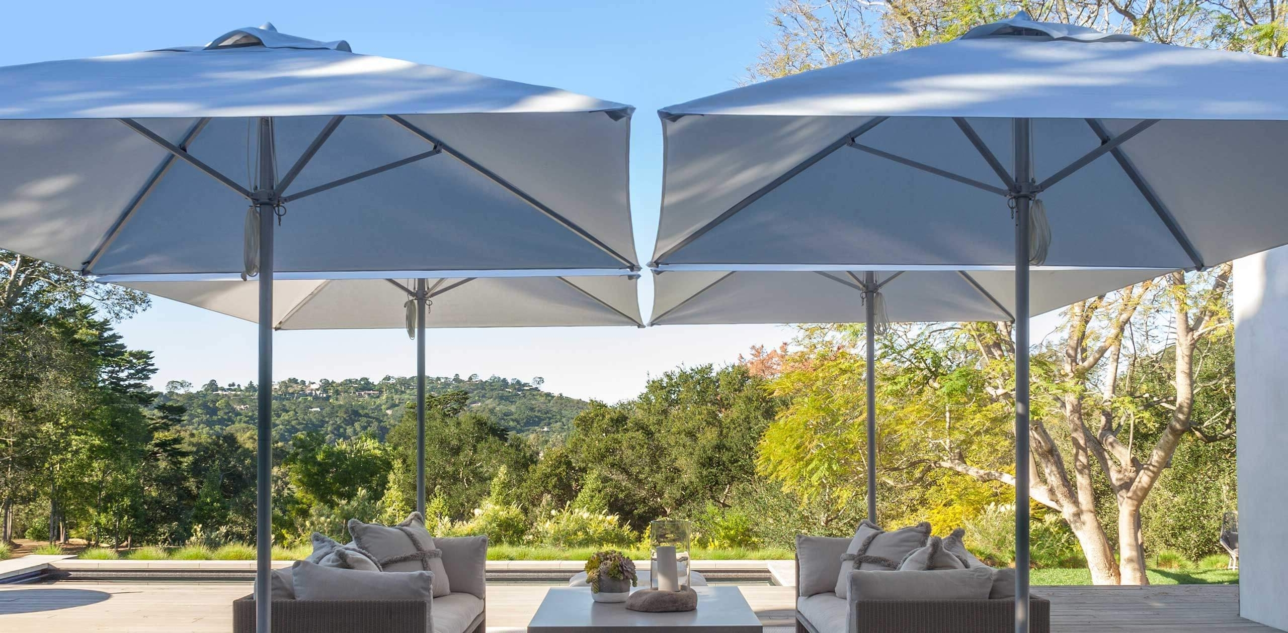 Paseo – Designer Collections – Santa Barbara Designs Within Preferred Vinyl Patio Umbrellas With Fringe (View 7 of 20)
