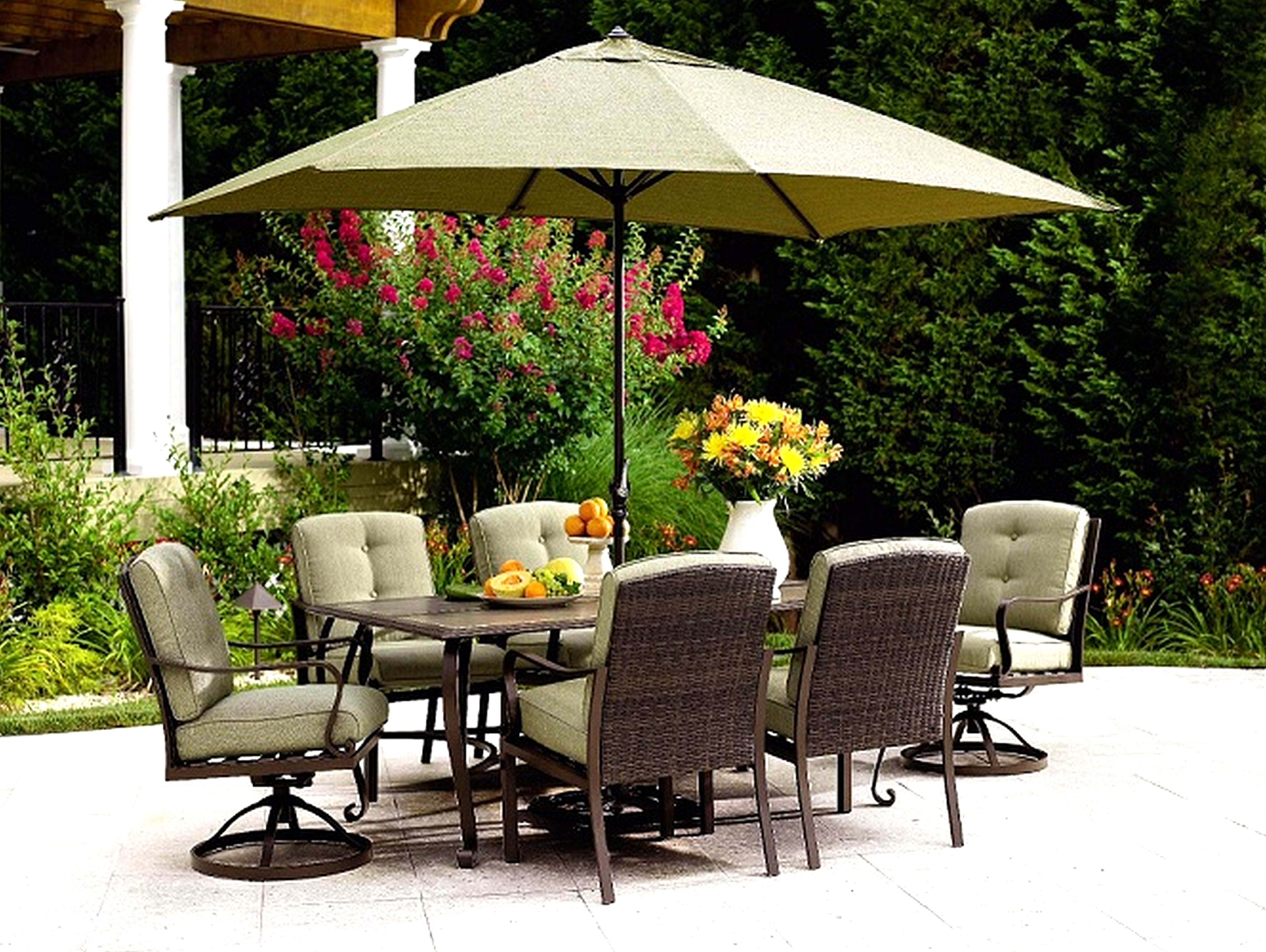 Patio Design Ideas Inside Most Recent Patio Umbrellas For Bar Height Tables (View 8 of 20)