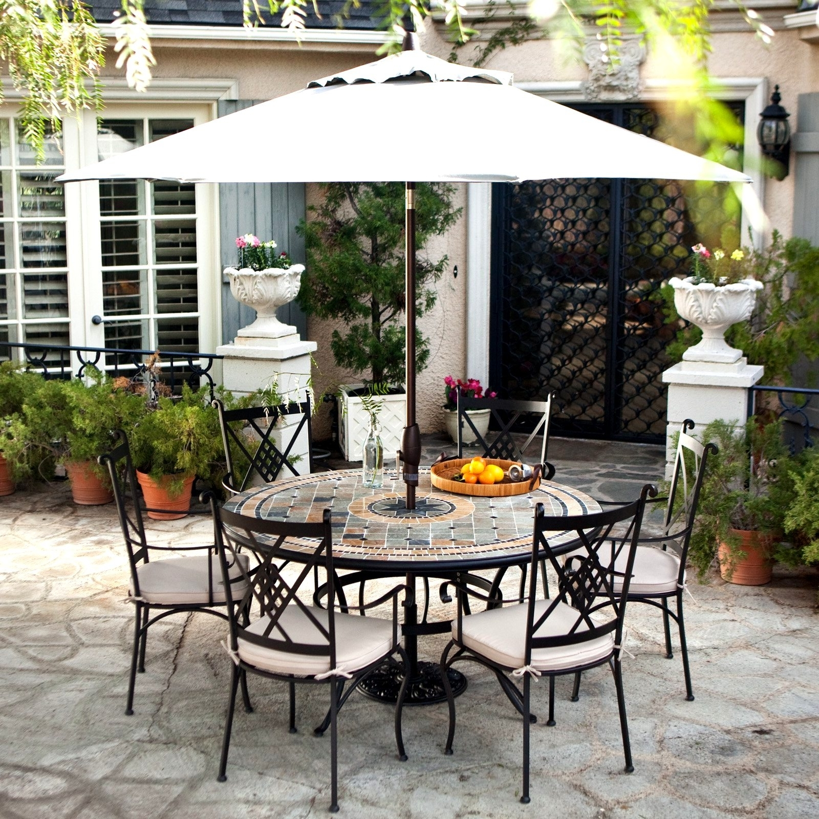 Patio Design Ideas Within Most Recent Patio Umbrellas For Bar Height Tables (View 9 of 20)