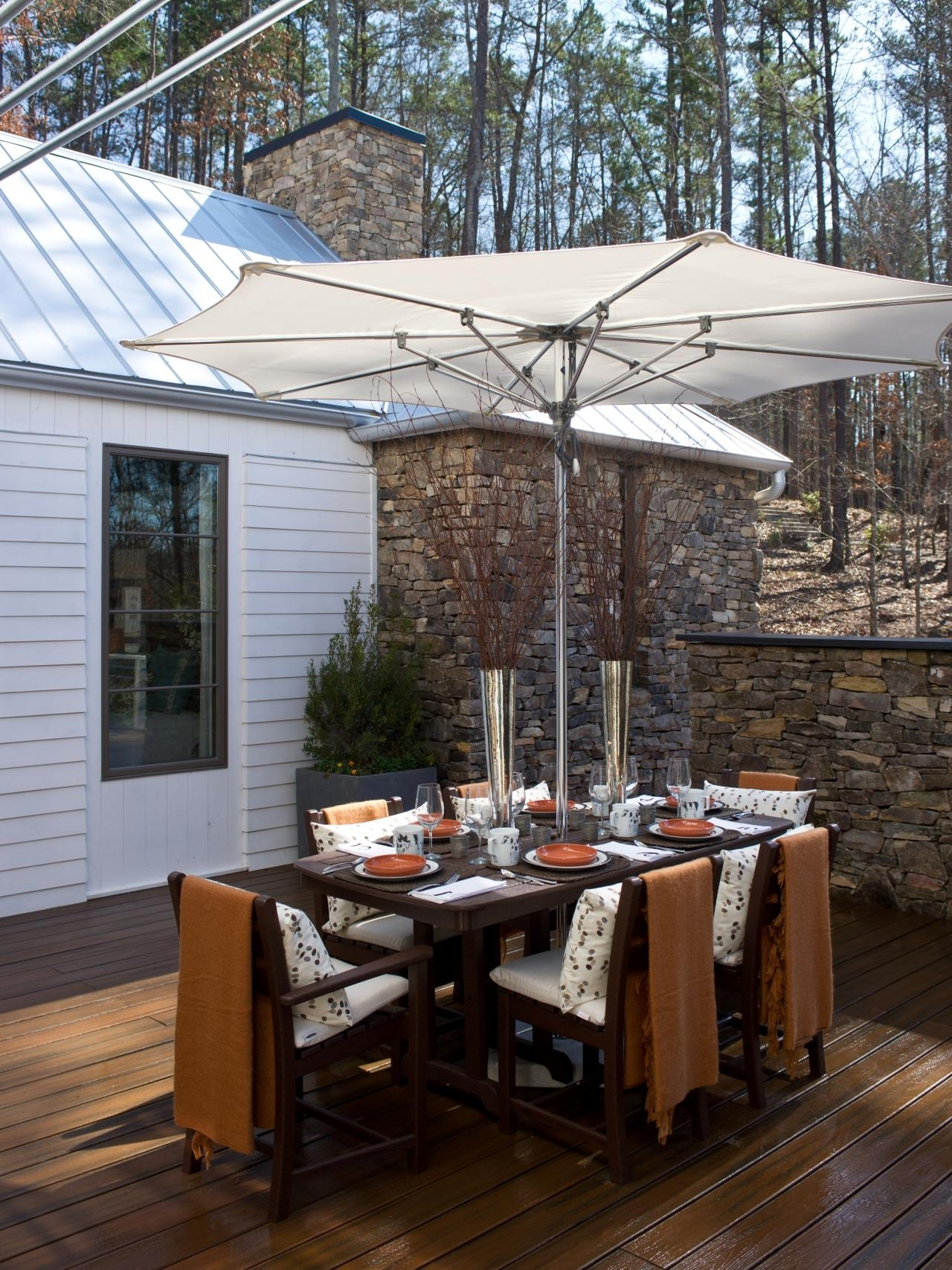 Patio Dining Sets With Umbrella Surprising Pictures Concept Full Inside Trendy Patio Dining Umbrellas (View 8 of 20)