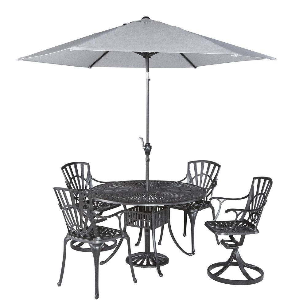Patio Dining Sets With Umbrellas Throughout Widely Used Home Styles Largo 42 In (View 13 of 20)