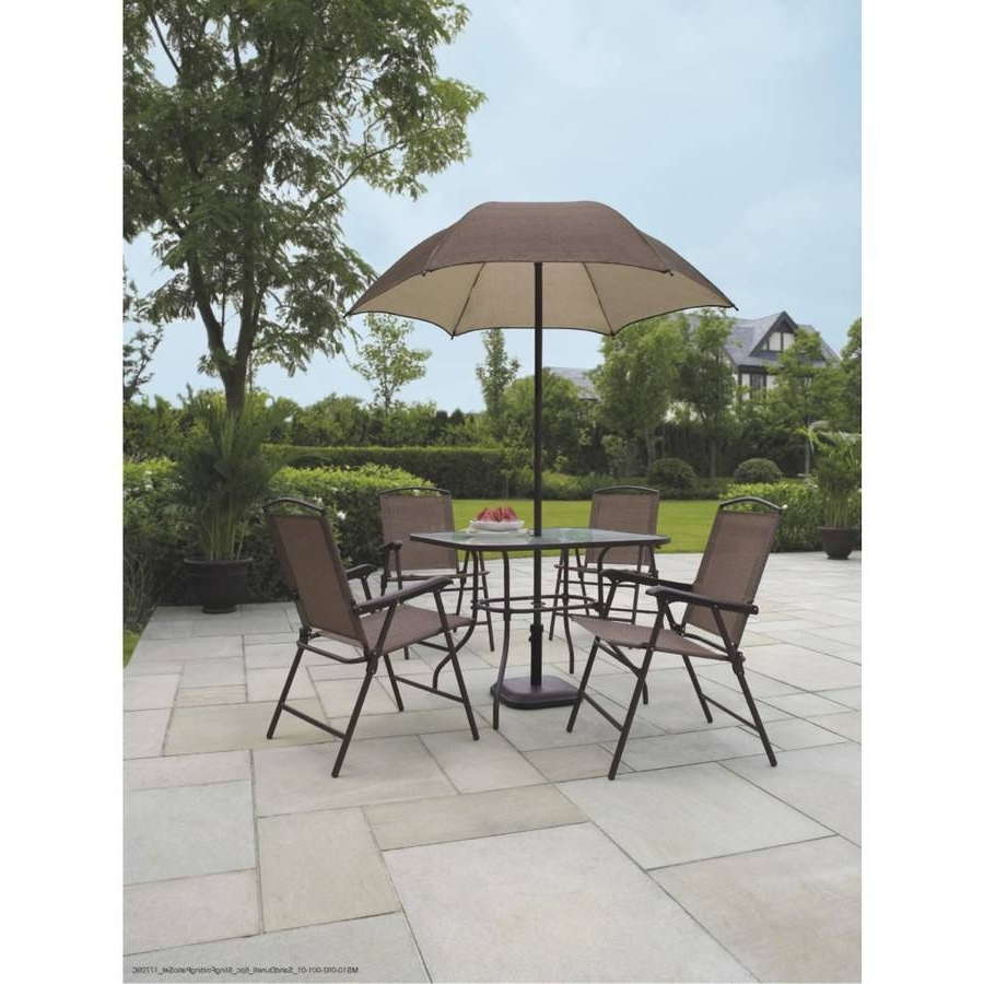 Patio Furniture Sets With Umbrellas For Most Recently Released Patio: Interesting Patio Furniture On Clearance Walmart Patio Chairs (View 16 of 20)