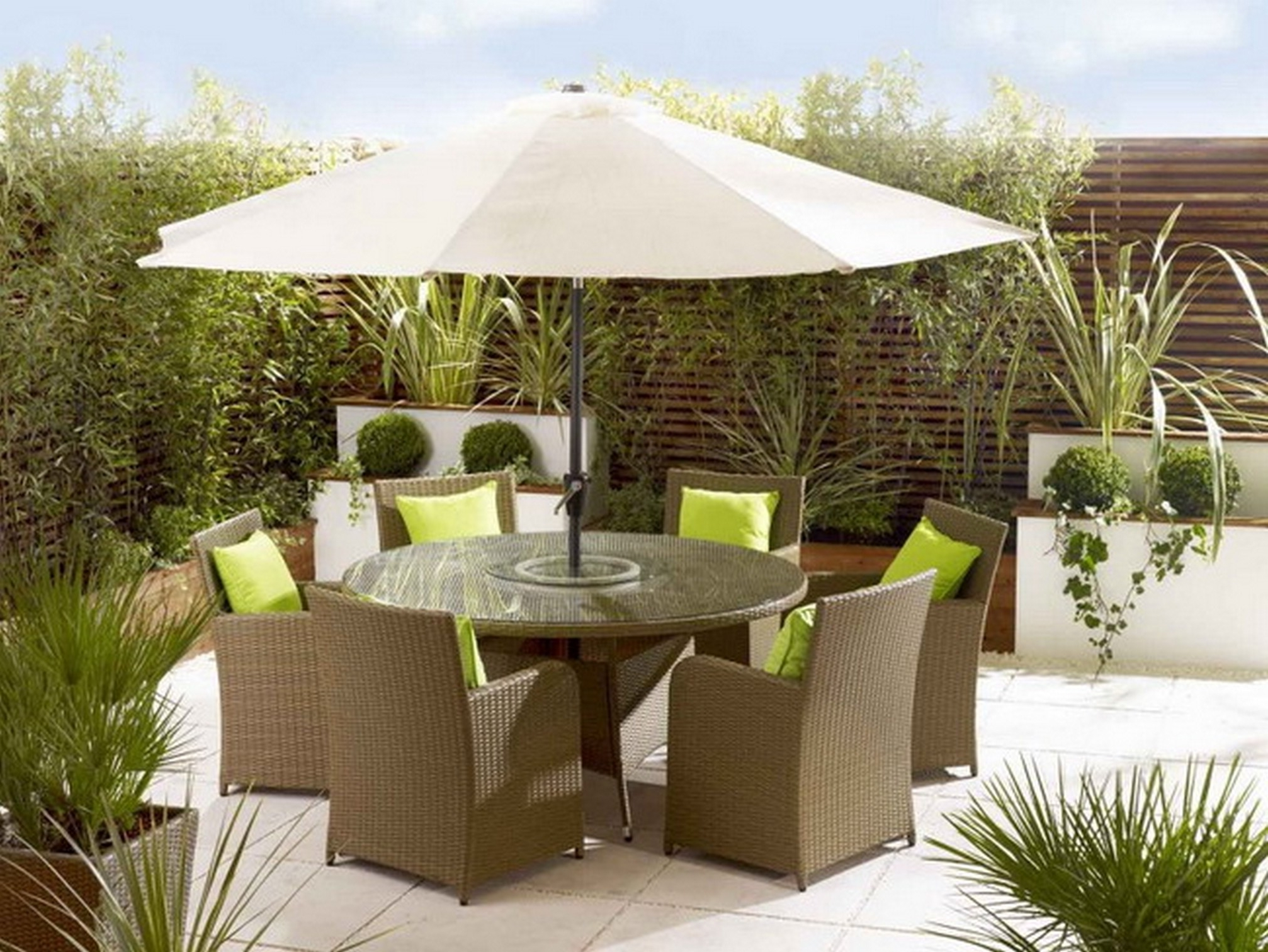 Patio Furniture With Umbrellas Within Favorite Patio Umbrella Table Attachment — Mistikcamping Home Design : The (View 12 of 20)
