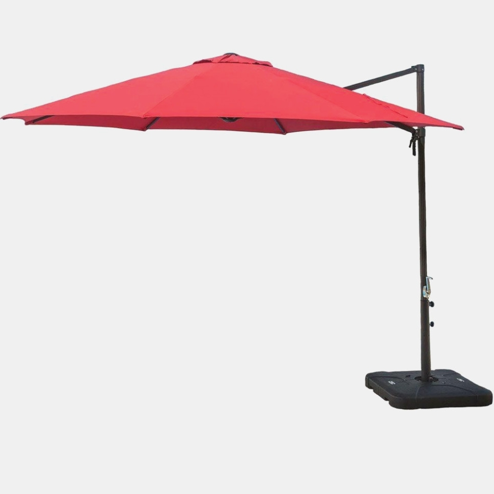 Patio : Home Depot Patio Umbrella Umbrellas Lighted Cantilever Base Intended For Fashionable Home Depot Patio Umbrellas (View 16 of 20)