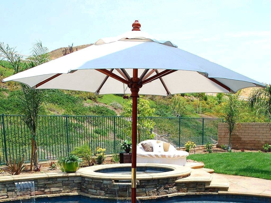 Patio Ideas ~ Best Oversized Patio Umbrella Patio White Round Modern Throughout Fashionable Oversized Patio Umbrellas (Gallery 8 of 20)