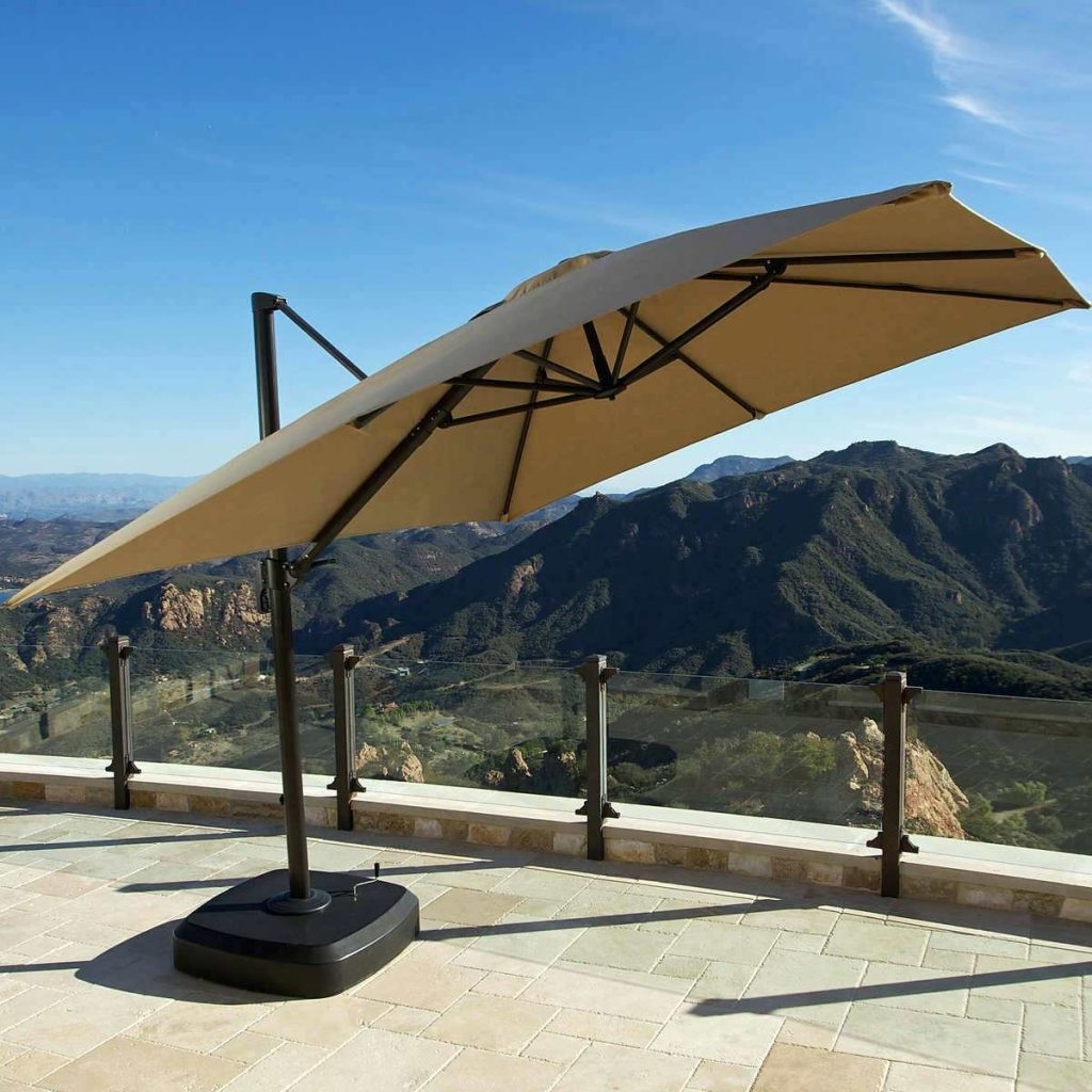 Patio Ideas ~ Large Patio Umbrellas With Lights Large Patio Intended For Well Known Patio Umbrellas From Costco (Gallery 11 of 20)
