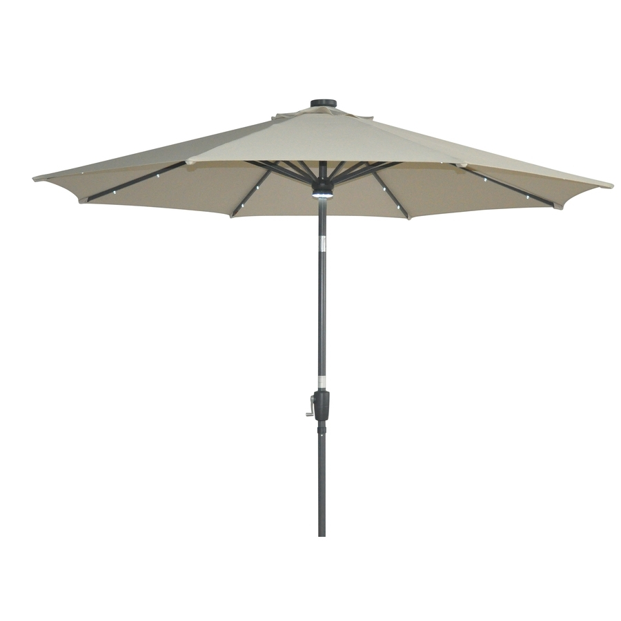 Patio: Setting Your Patio Decoration With Lowes Patio Umbrella Within 2019 Patio Umbrellas At Lowes (View 4 of 20)