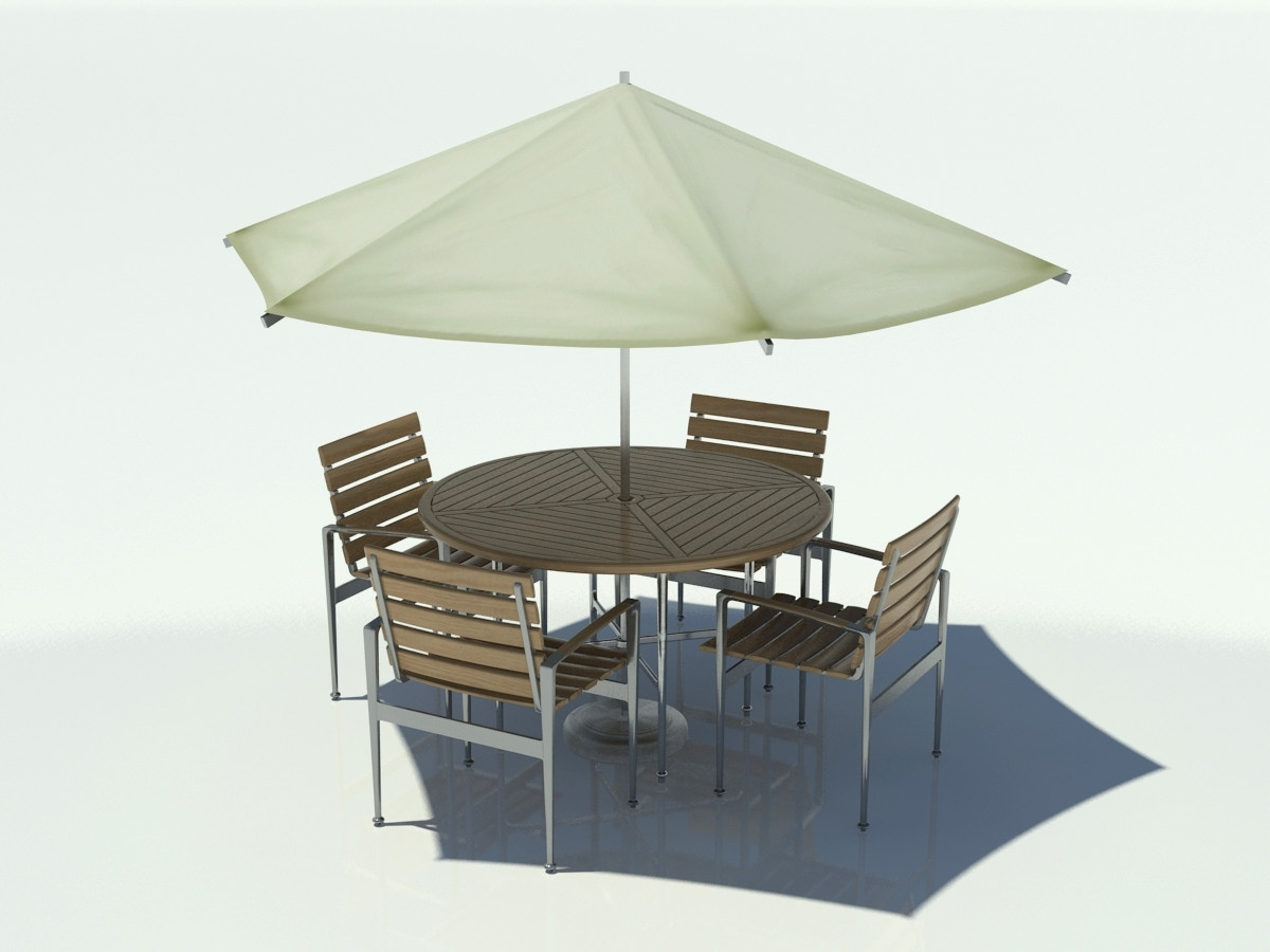Patio Table And Chairs With Umbrellas With Regard To Most Up To Date Collection In Umbrella For Patio Table Outdoor Table Chair Umbrella (Gallery 19 of 20)