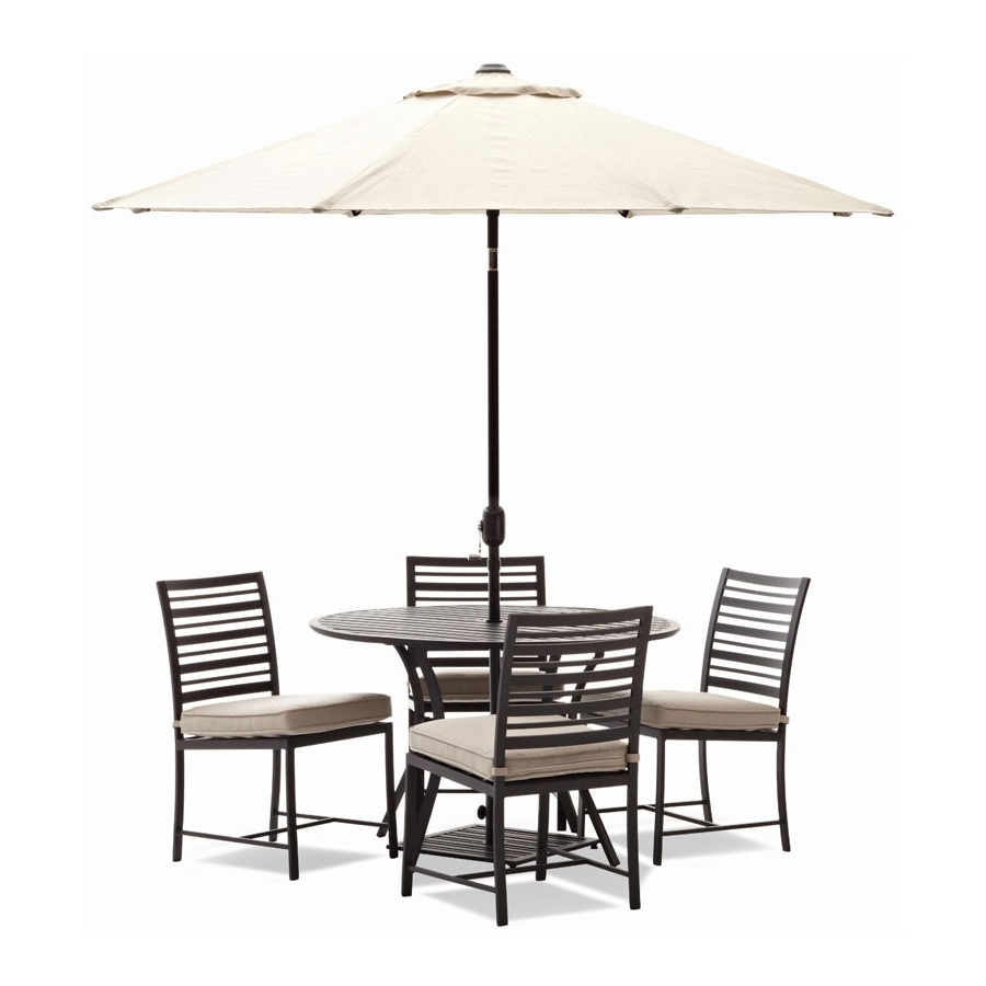 Patio Table And Chairs With Umbrellas Within Most Recent Patio: Inspiring Patio Set With Umbrella Patio Umbrellas On Amazon (Gallery 16 of 20)