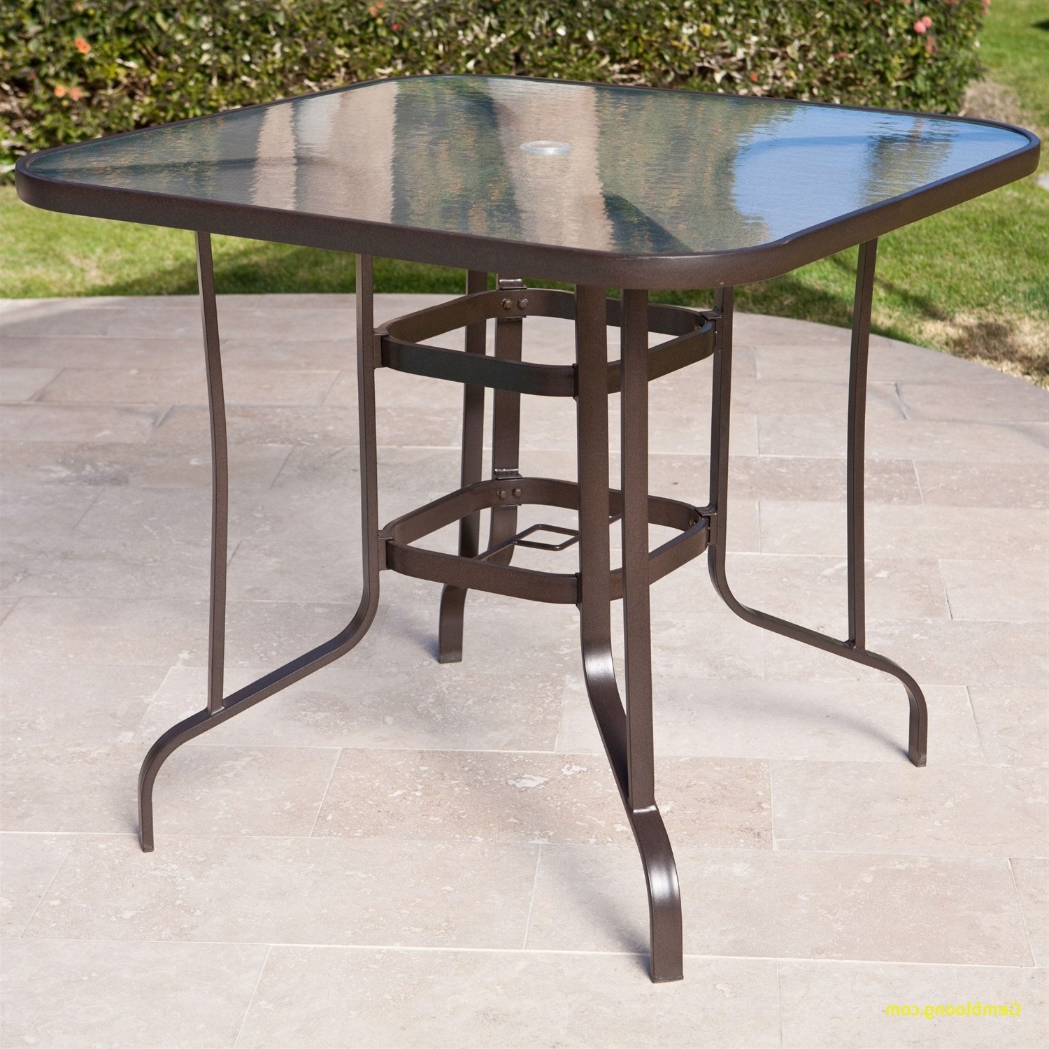 Patio Tables With Umbrella Hole Pertaining To Famous Patio Table With Umbrella Hole – Pelikansurf (View 4 of 20)