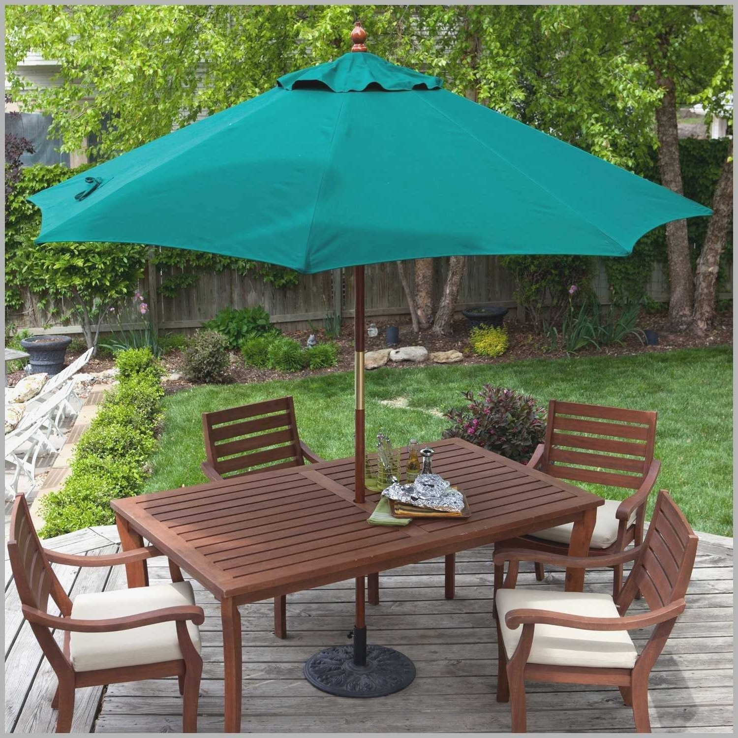 Patio Tables With Umbrella Hole Pertaining To Popular Patio Table: Patio Table Umbrella Flange Patio Table Umbrella Hole (View 9 of 20)