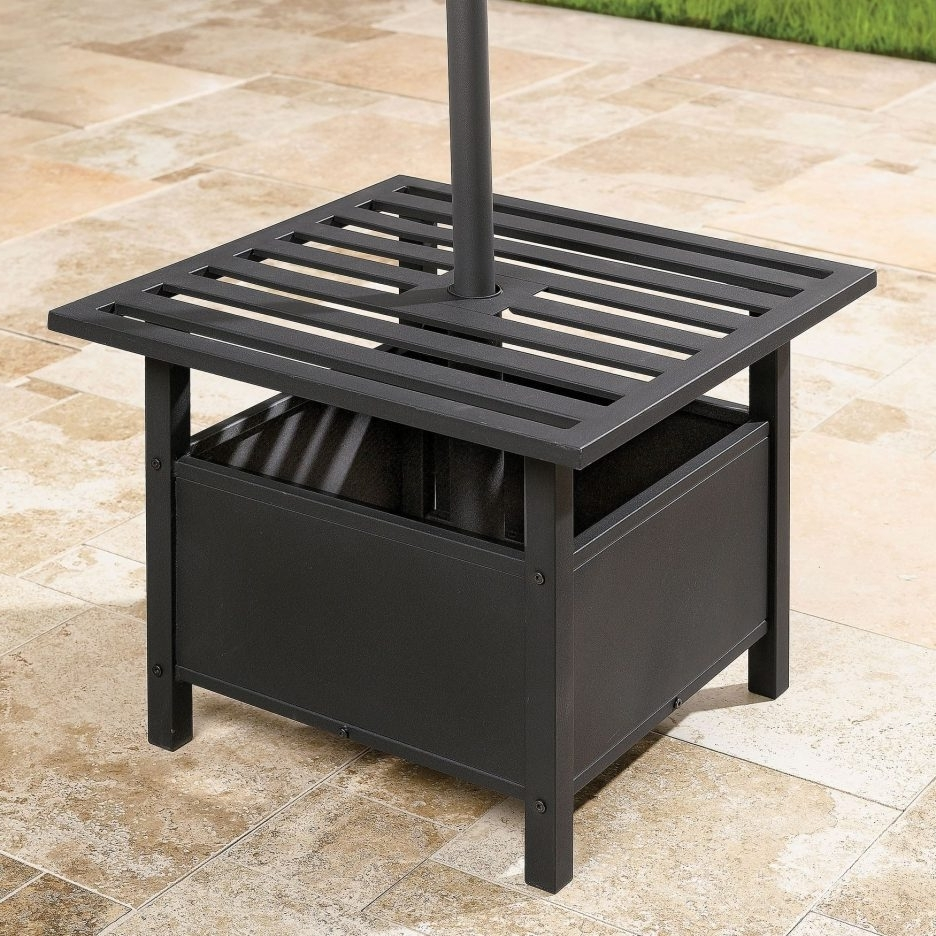 Patio Tables With Umbrella Hole With Most Current Outdoor Table With Umbrella Hole Patio – Home Design Ideas (Gallery 17 of 20)