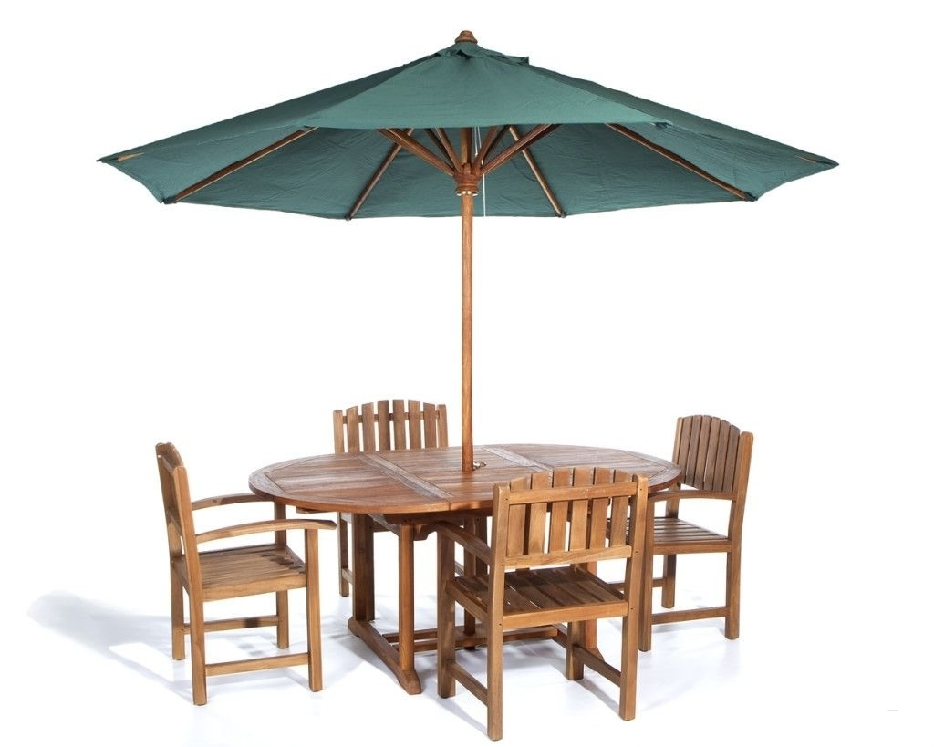 Patio Tables With Umbrella Hole With Newest Outdoor Dining Set With Umbrella Beautiful Patio Furniture Umbrella (Gallery 11 of 20)