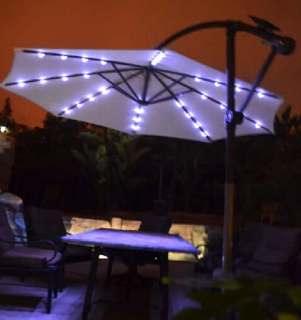 Patio Umbrella Lights – Interior Decorating Colors – Interior With Regard To 2019 Patio Umbrellas With Led Lights (Gallery 20 of 20)