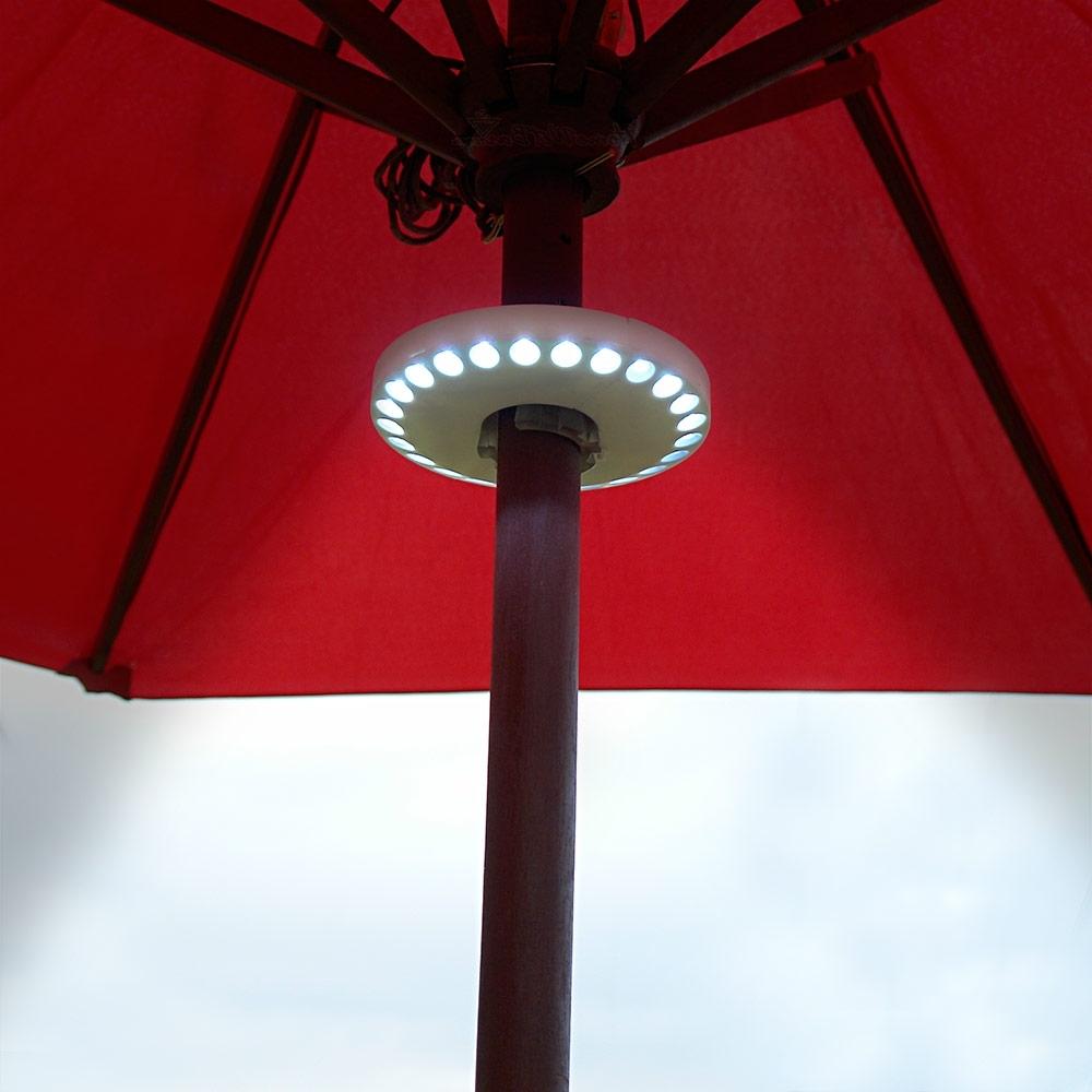 Patio Umbrella Lights Regarding Best And Newest Super Powerful Led Patio Umbrella Lights – Walmart (Gallery 9 of 20)