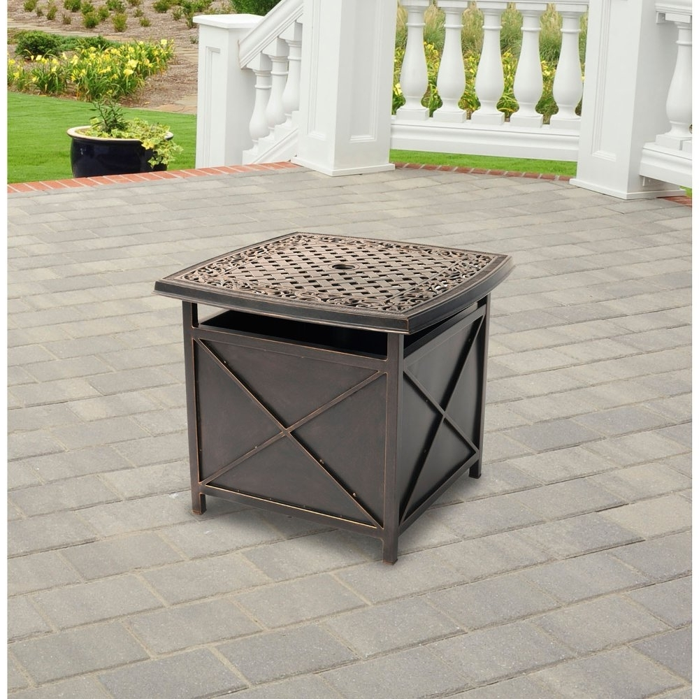 Patio Umbrella Stand Side Tables In Newest Patio Umbrella Stand Side Table – Mopeppers #b16E95Fb8Dc4 (Gallery 17 of 20)