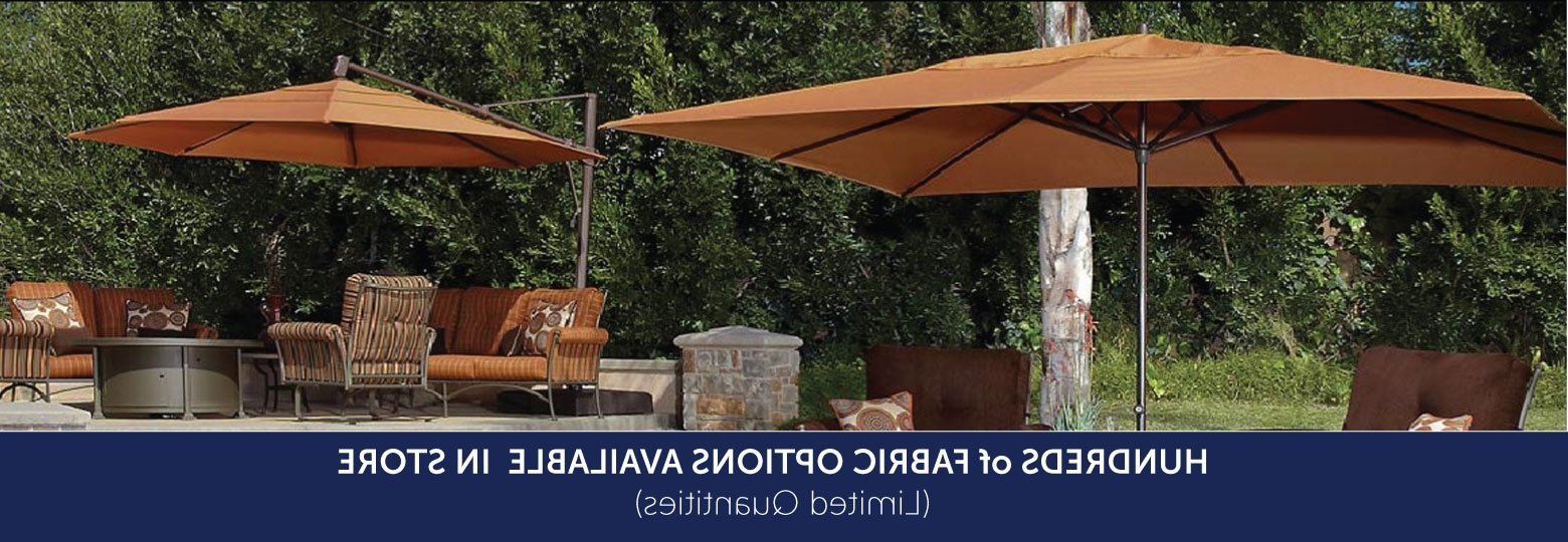 Patio Umbrellas For Bar Height Tables Pertaining To Latest Umbrellas From The Great Escape (View 14 of 20)