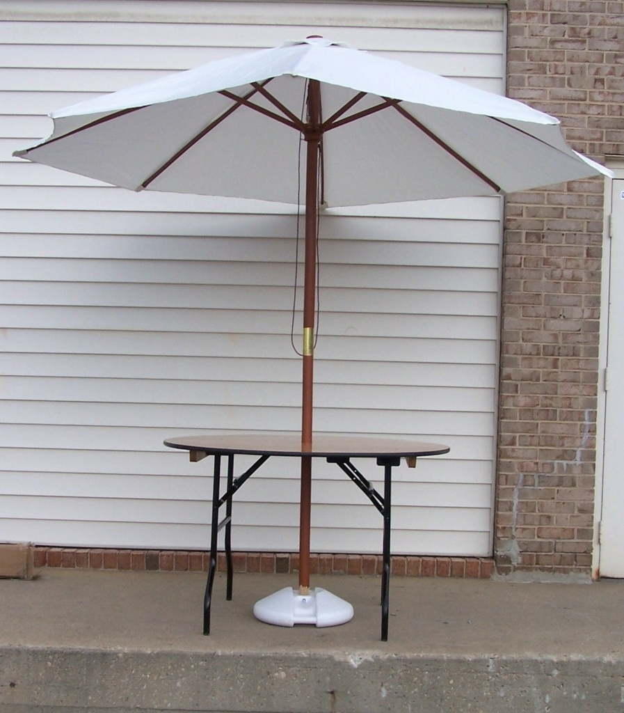 Patio Umbrellas For Rent Pertaining To Most Recently Released Party Table Rental, Wedding Rental Supplies, Tables For Rent, Md, Va (View 9 of 20)