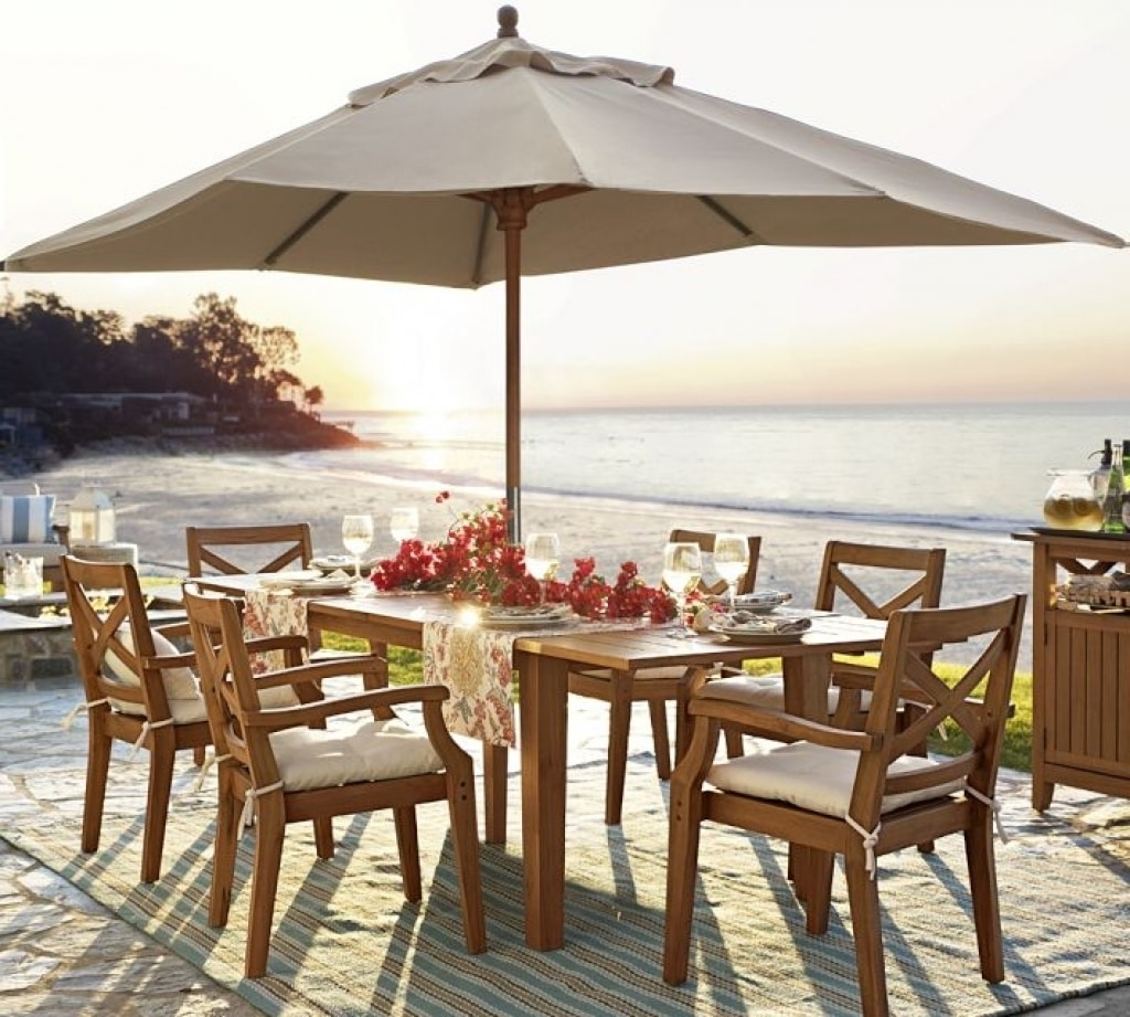 Patio Umbrellas For Tables Inside Popular Cool Ideas Outdoor Table Umbrella — Sherizampelli Landscape (View 11 of 20)