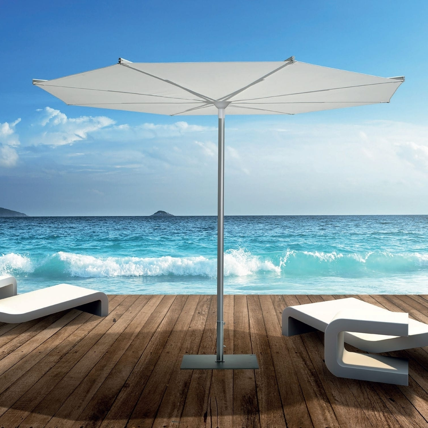 Patio Umbrellas For Windy Locations Regarding Most Current Choose The Right Wind Resistant Patio Umbrella — Cookwithalocal Home (Gallery 19 of 20)