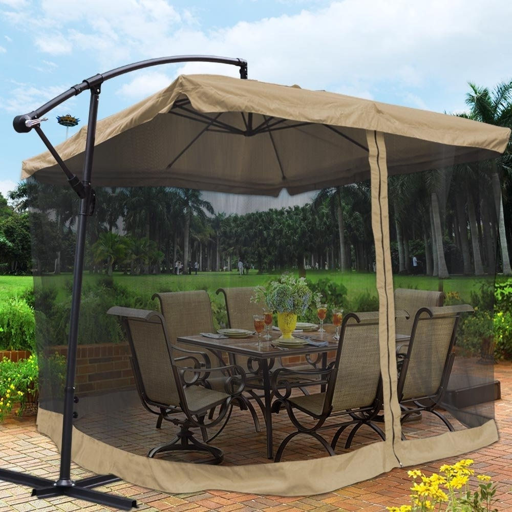 Patio Umbrellas With Netting Inside Favorite Best Mosquito Netting For Patio (View 11 of 20)