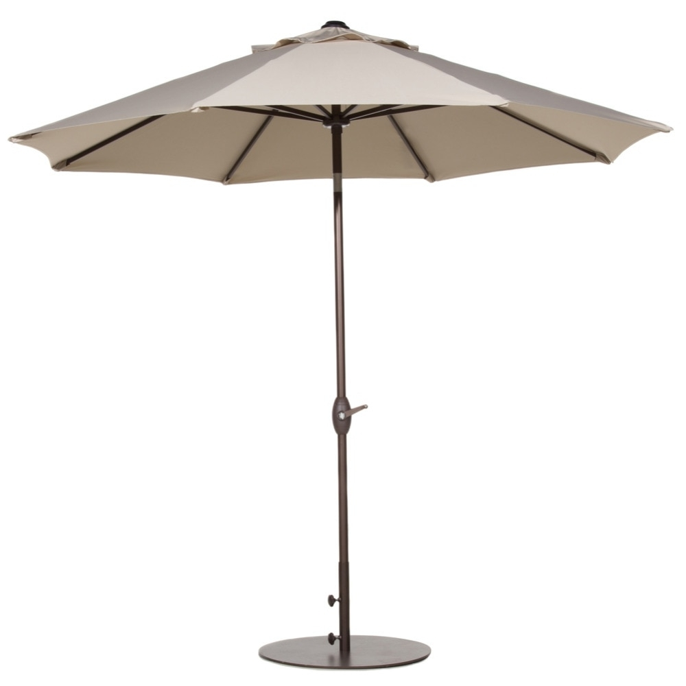 Patio Umbrellas With Table Intended For Well Known Abba Patio 9 Ft Outdoor Table Aluminum Patio Umbrella With Auto Tilt (View 11 of 20)