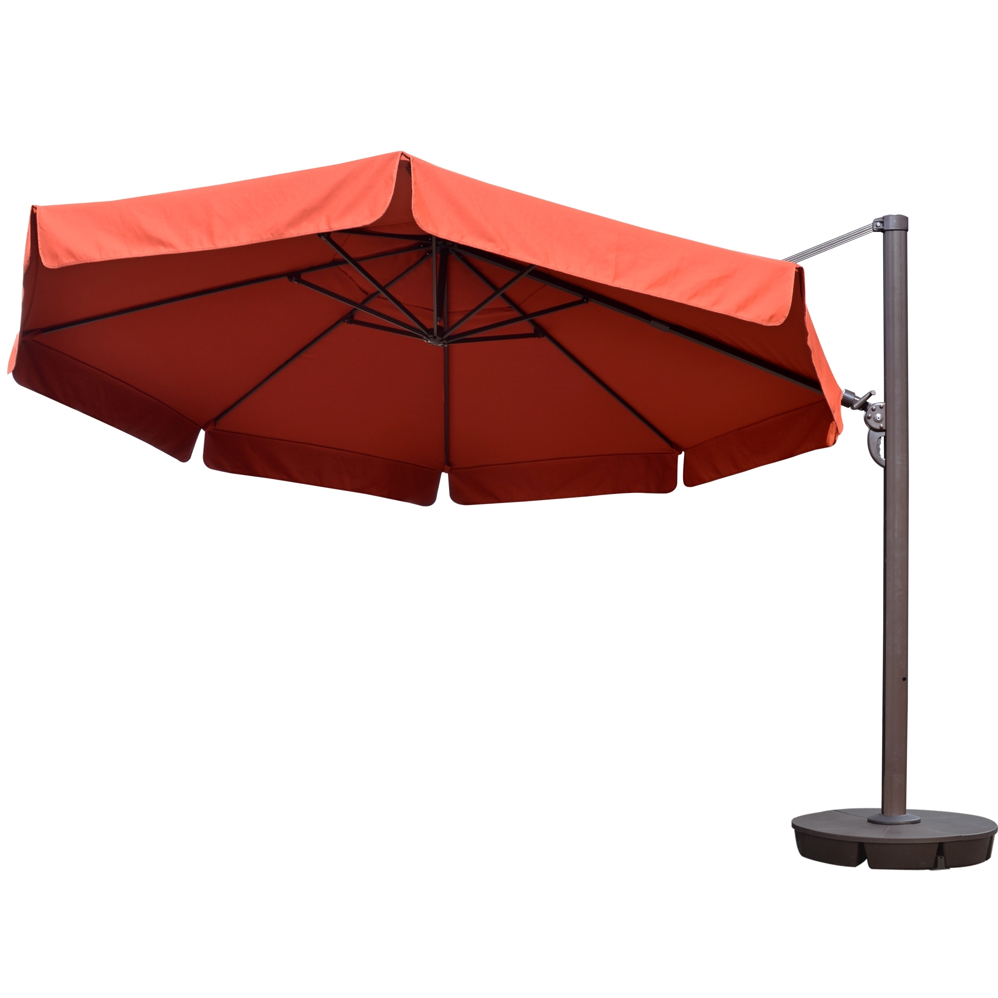Patio Umbrellas With Valance In Well Known Island Umbrella Victoria 13 Ft Octagonal Cantilever W/ Valance Patio (Gallery 10 of 20)