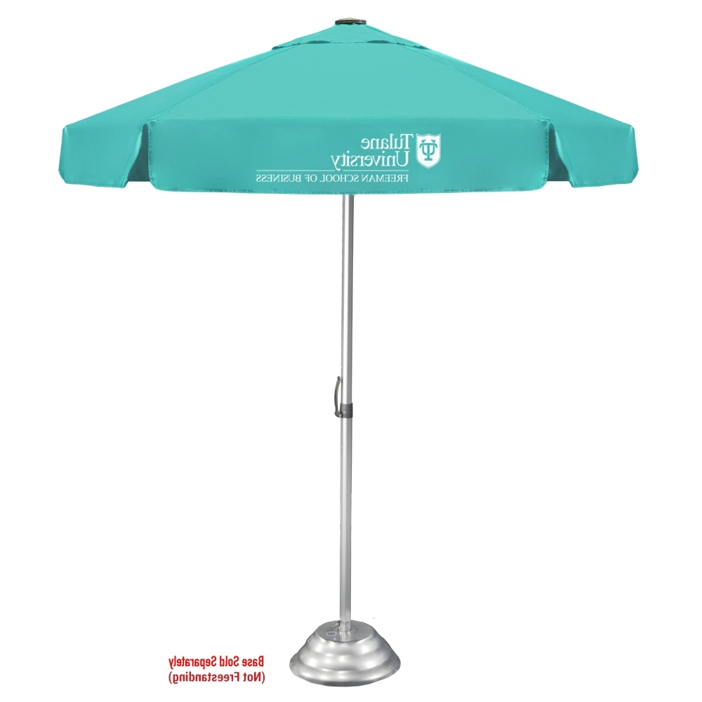 Patio Umbrellas With Valance Intended For Trendy The Vented Bistro Patio Umbrella (View 13 of 20)