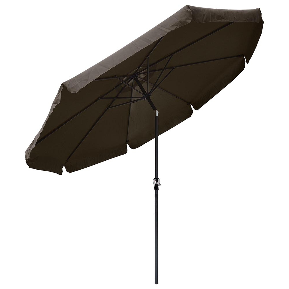 Patio Umbrellas With Valance Pertaining To Latest Yescomusa: 10' Aluminum Outdoor Patio Umbrella W/ Valance Crank Tilt (View 17 of 20)